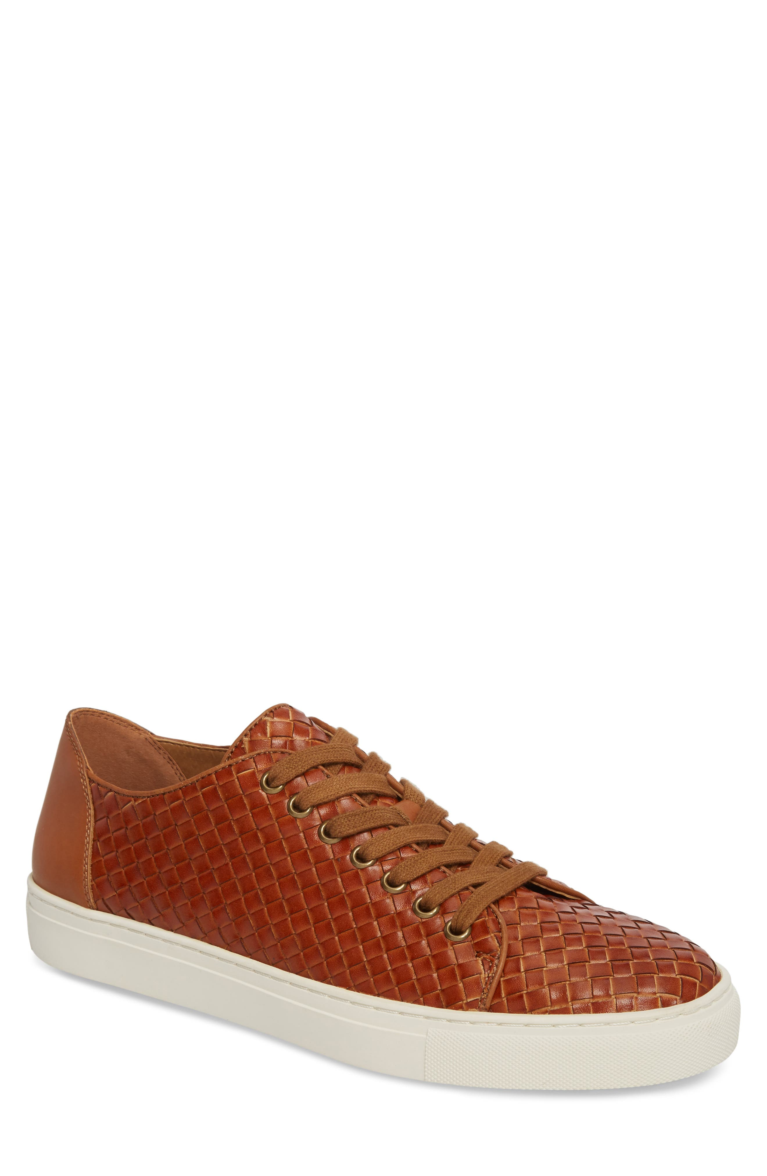 Alto Woven Low Top Sneaker,                             Main thumbnail 1, color,                             Saddle Leather