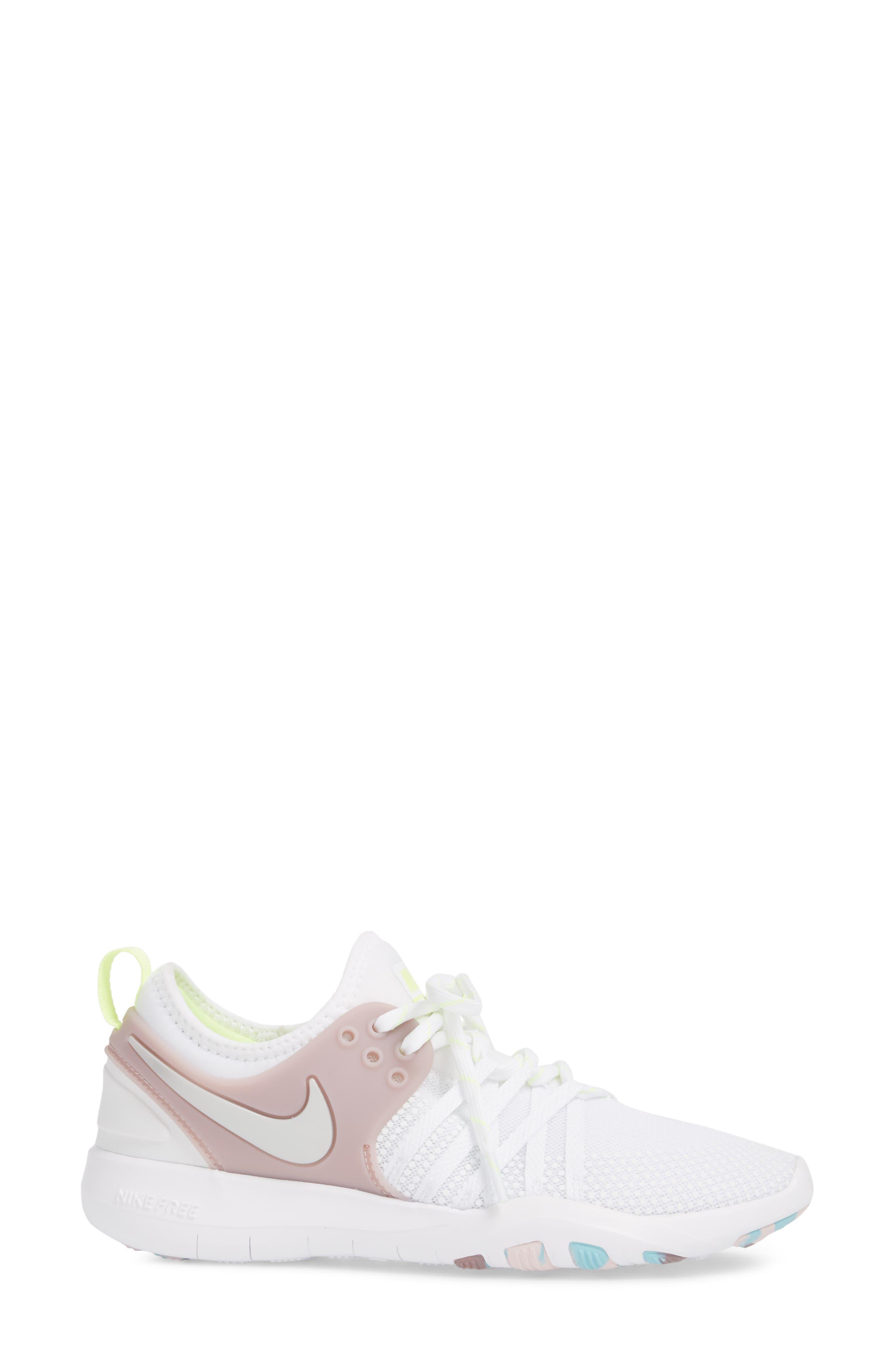 Free TR 7 Training Shoe,                             Alternate thumbnail 3, color,                             White/ Silver