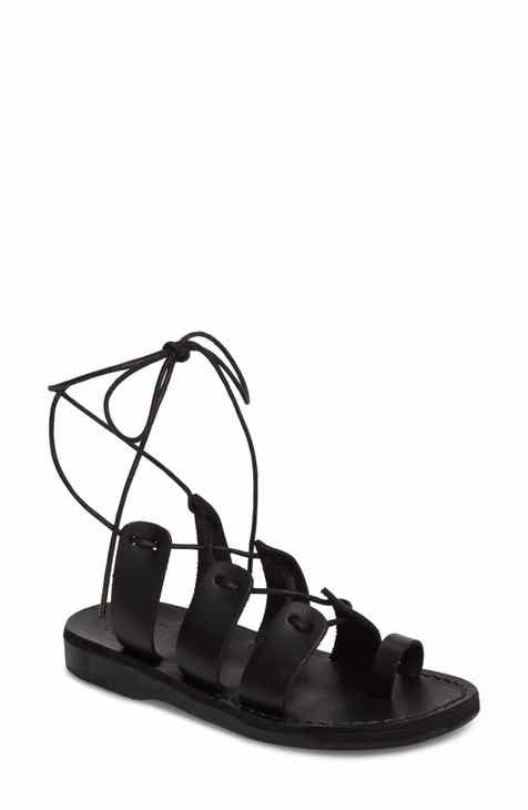 94d4e0cc7021 Jerusalem Sandals Deborah Wraparound Laces Sandal (Women)