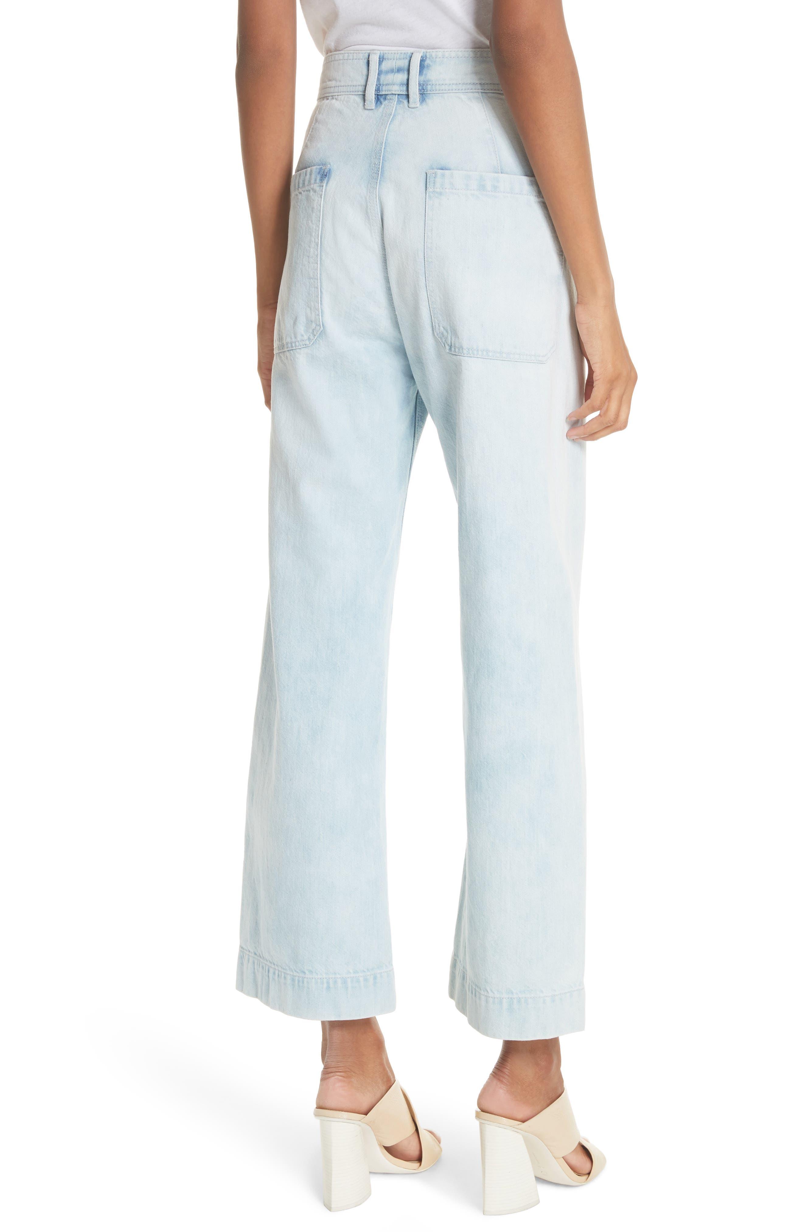 Alternate Image 2  - La Vie Rebecca Taylor Crop Wide Leg Jeans (Nuage Wash)