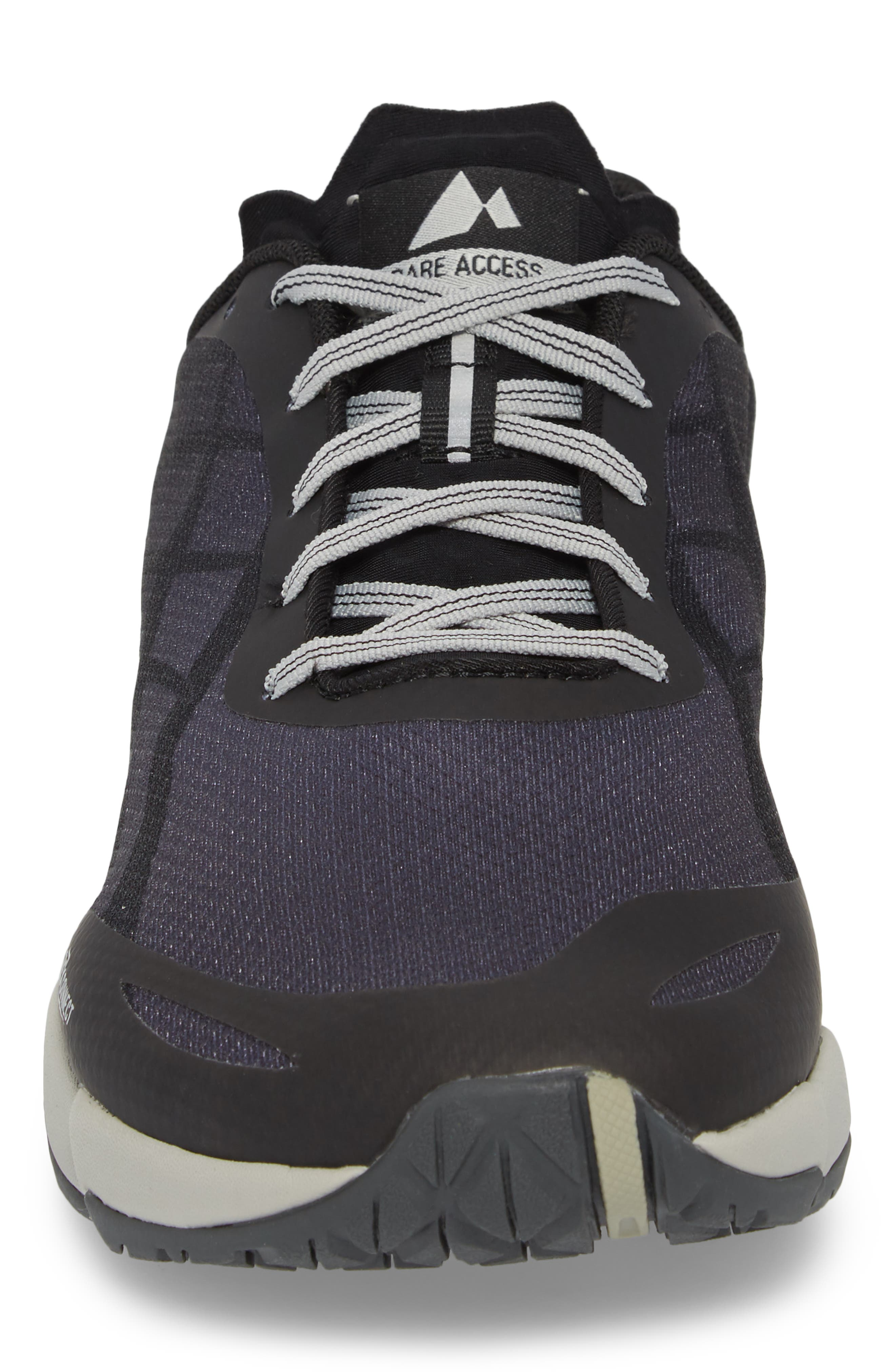 Bare Access Flex Running Shoe,                             Alternate thumbnail 4, color,                             Black/ Silver