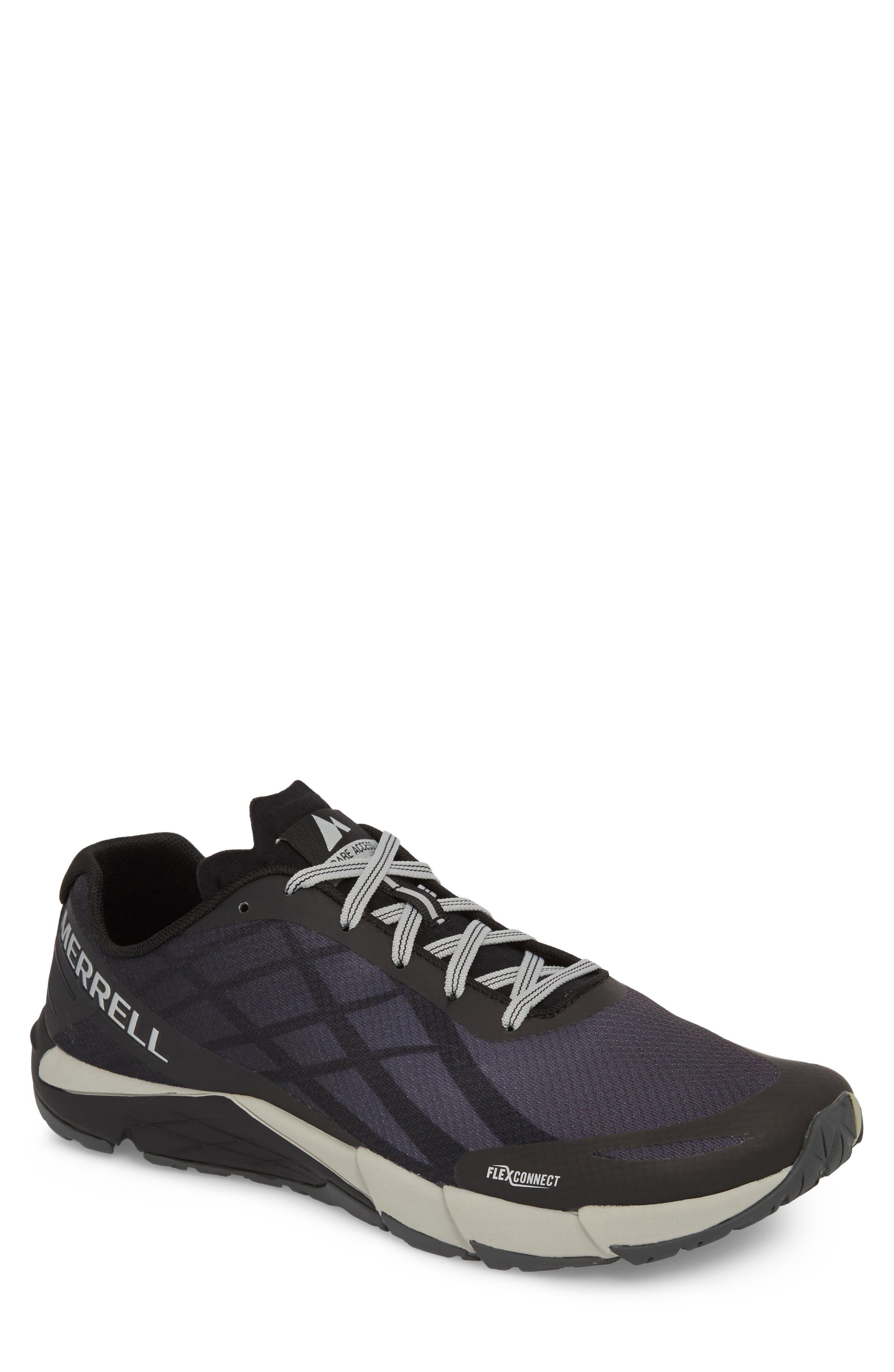 Bare Access Flex Running Shoe,                             Main thumbnail 1, color,                             Black/ Silver