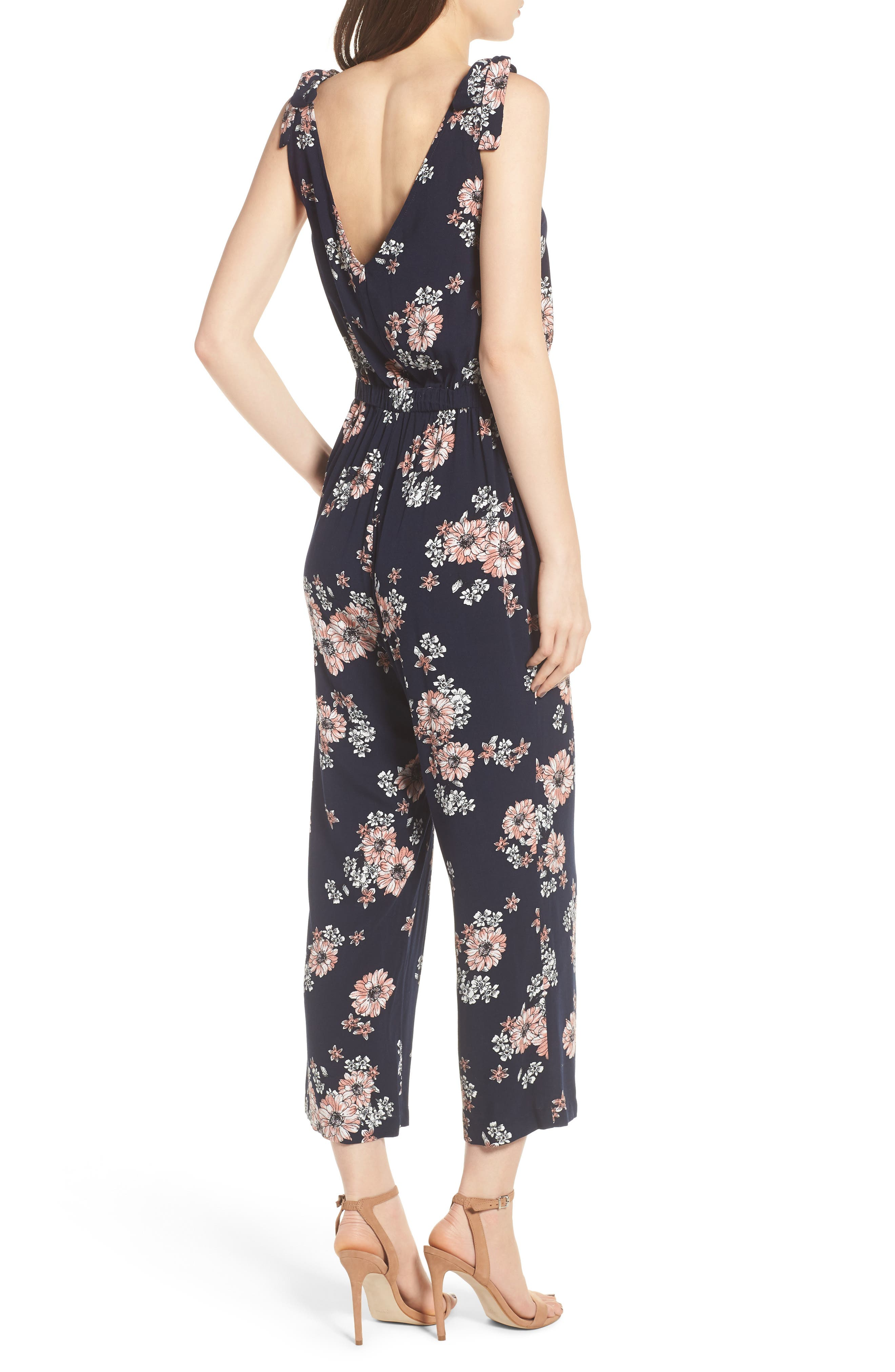 Alternate Image 2  - cupcakes and cashmere Lili Floral Jumpsuit