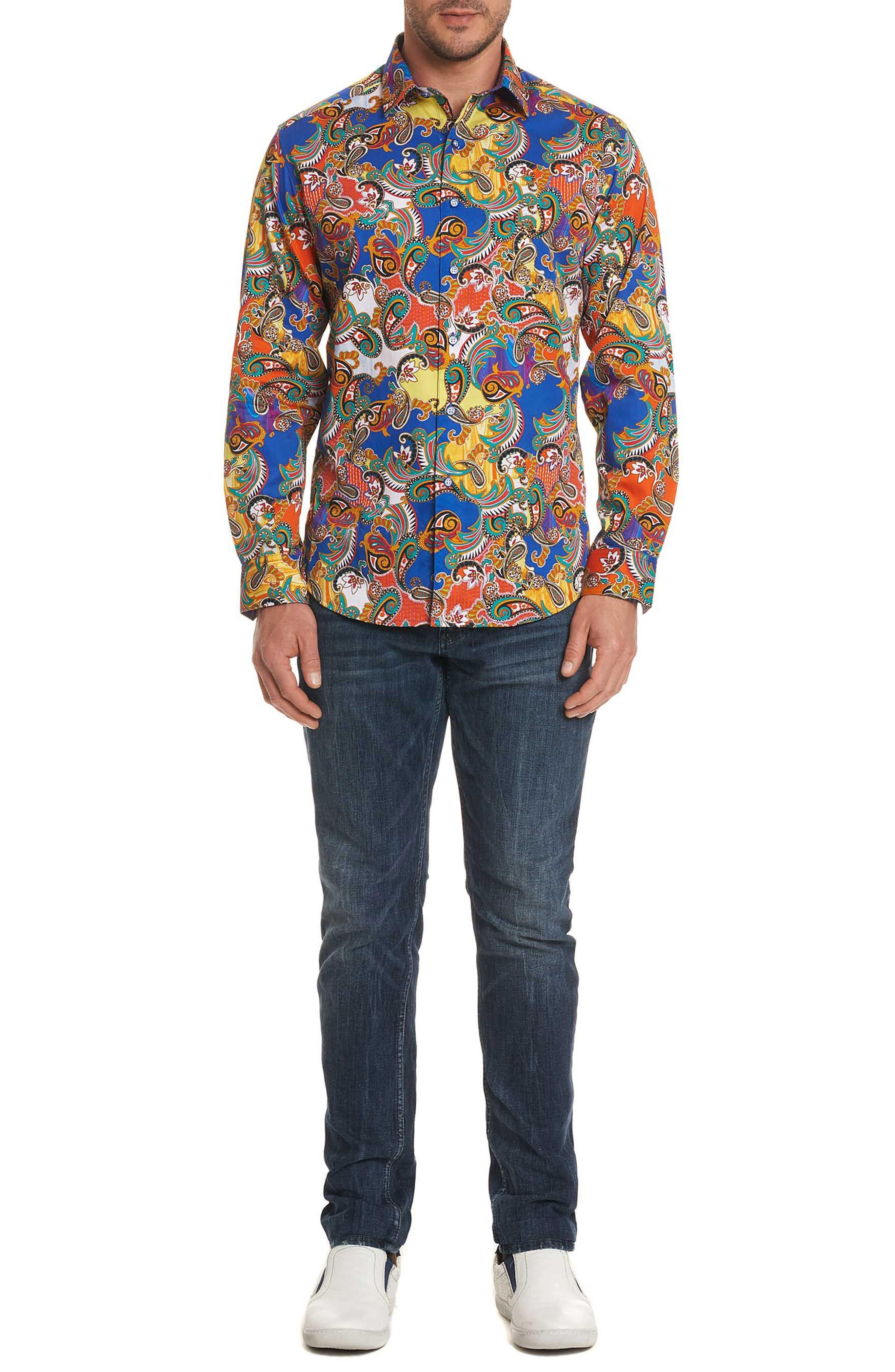 Acosta Classic Fit Sport Shirt,                             Alternate thumbnail 7, color,                             Multi