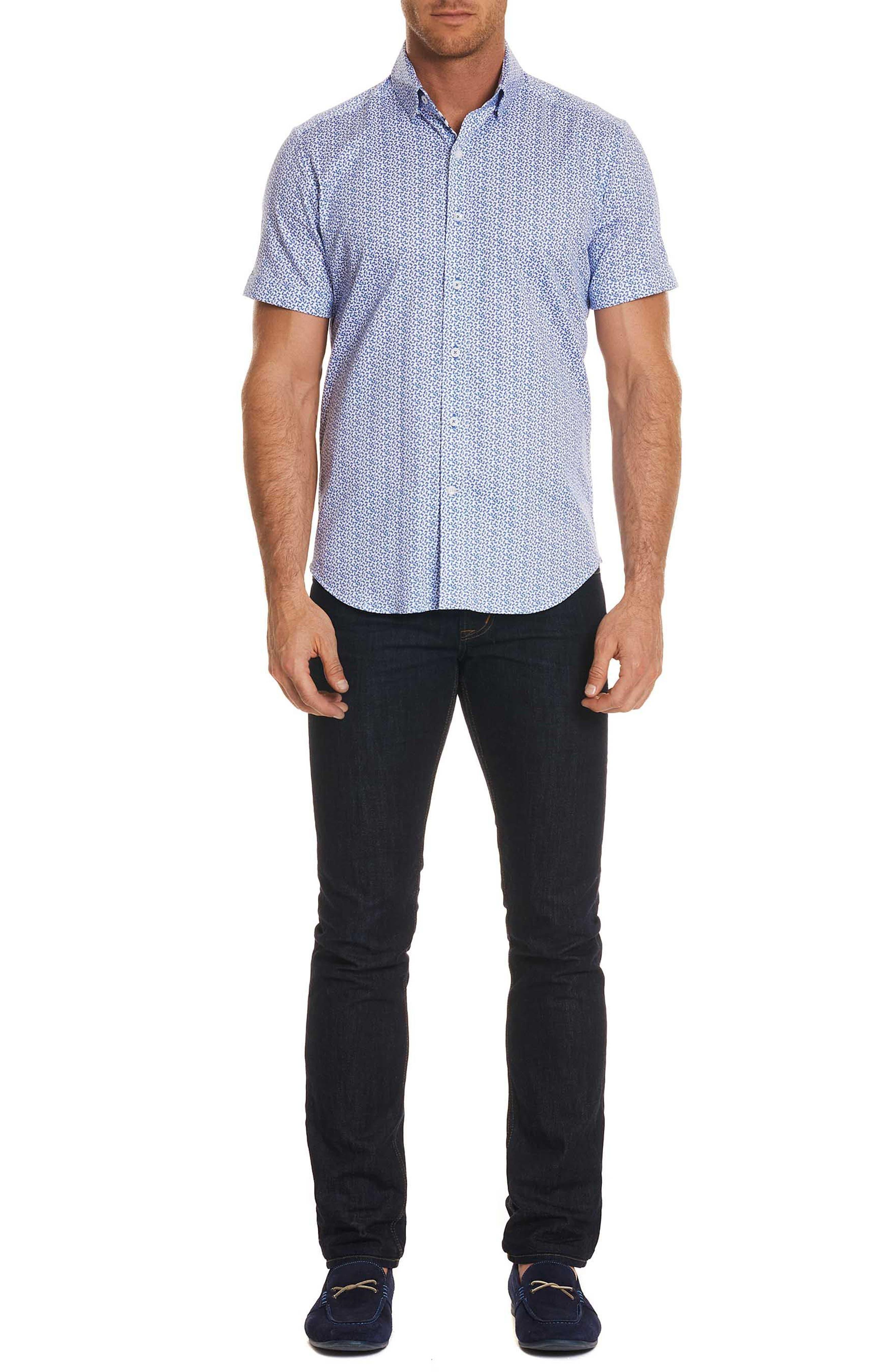 Hartman Tailored Fit Sport Shirt,                             Alternate thumbnail 6, color,                             Blue