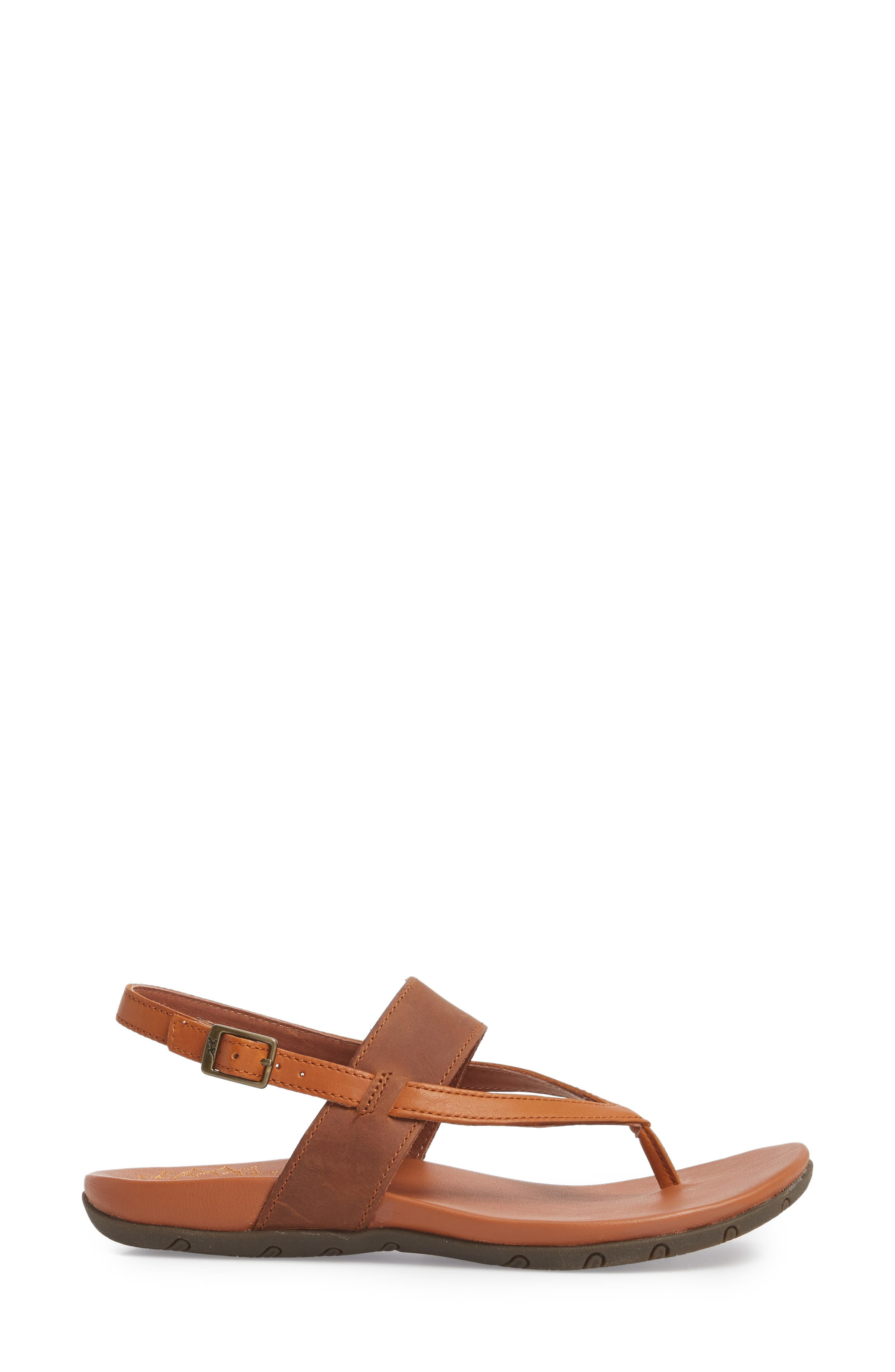 Maya II Sandal,                             Alternate thumbnail 3, color,                             Rust Leather
