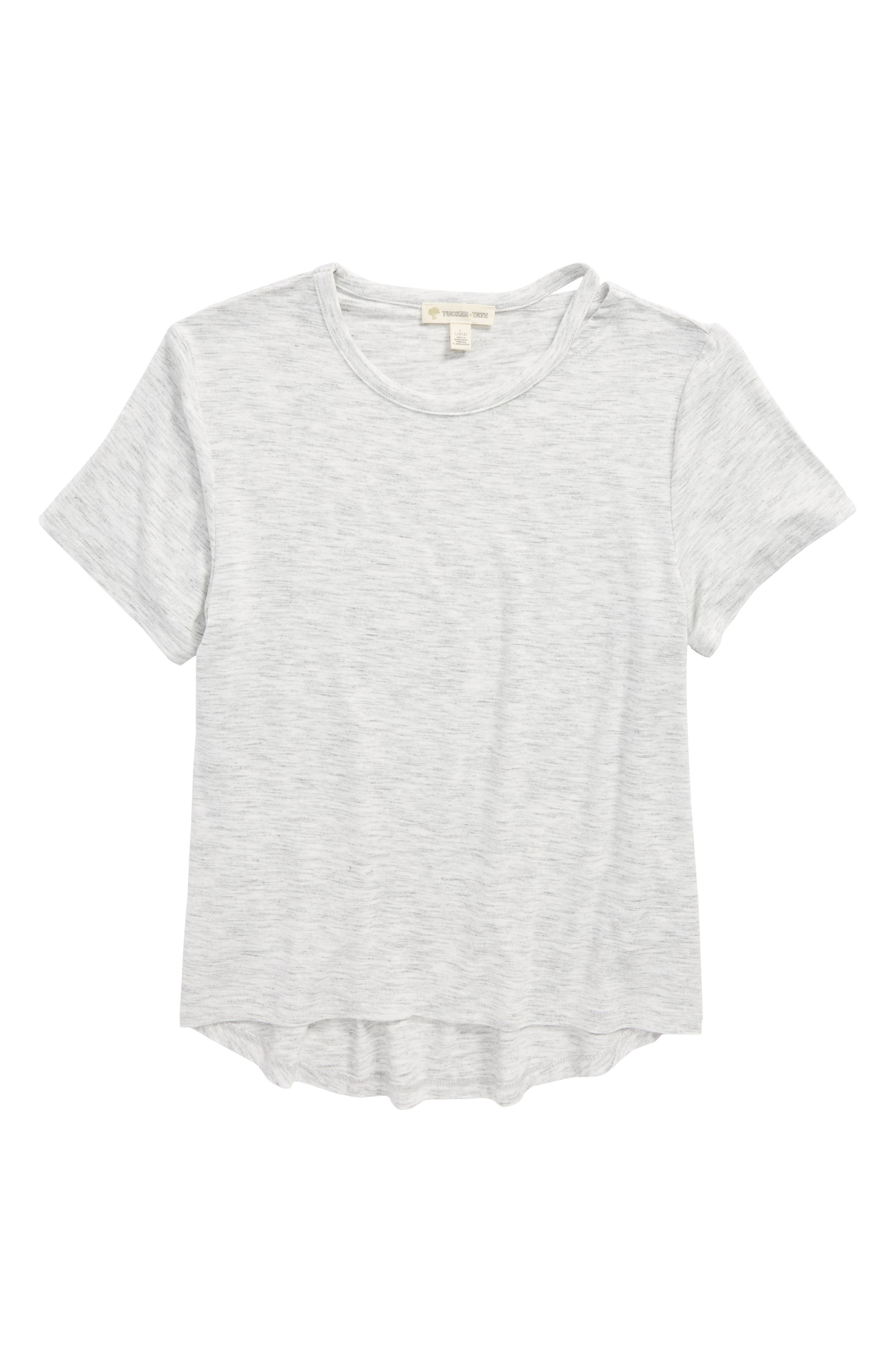 Tucker + Tate Split Neck Tee (Big Girls)