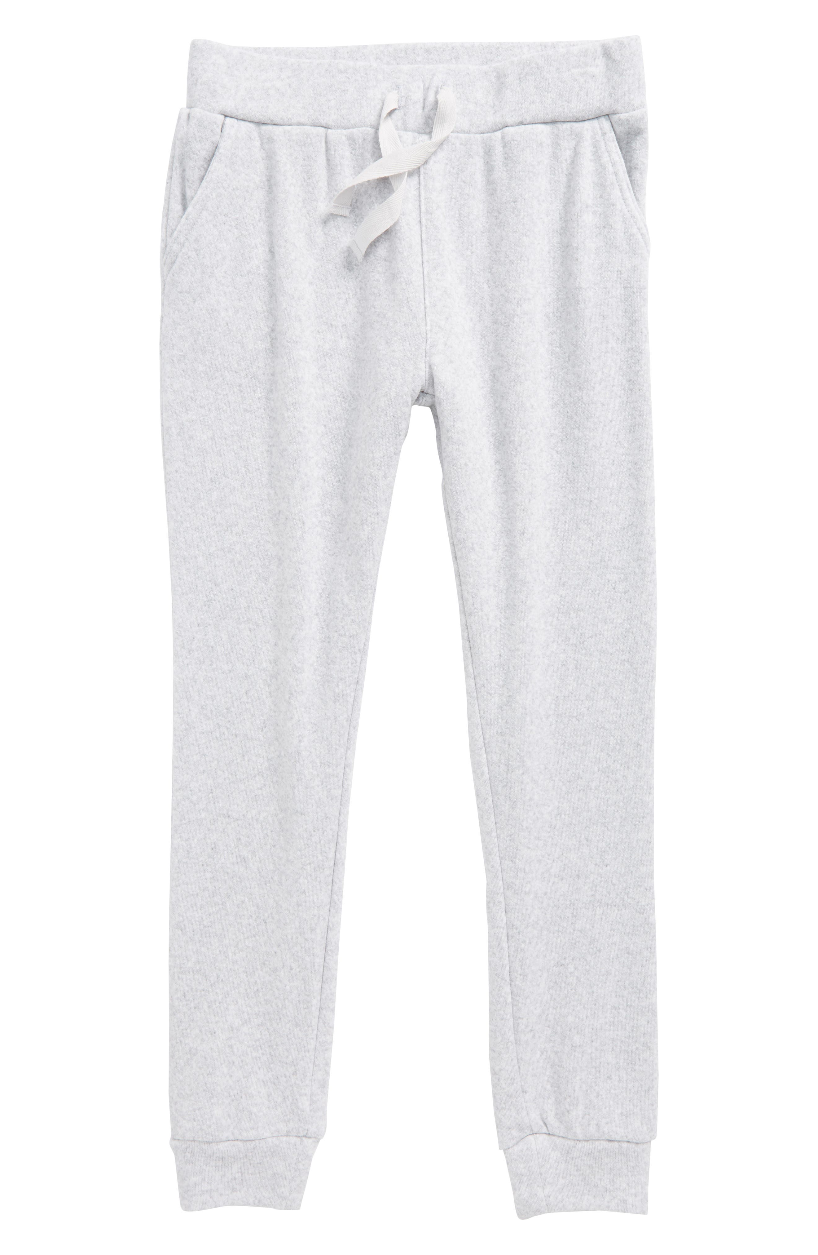 French Terry Jogger Pants,                         Main,                         color, Grey Ash Heather