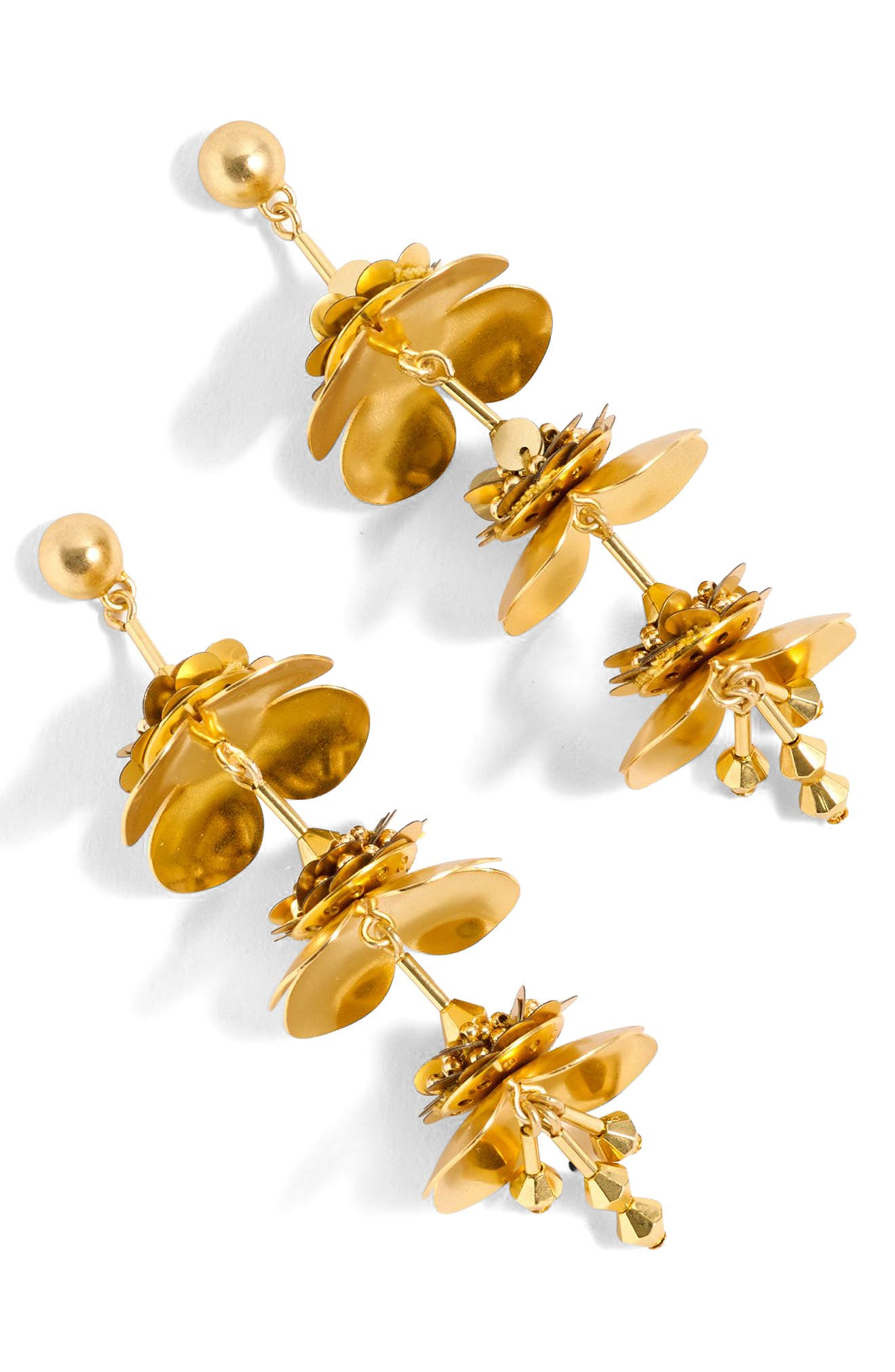 J.Crew Bead & Blossom Earrings,                         Main,                         color, Gold