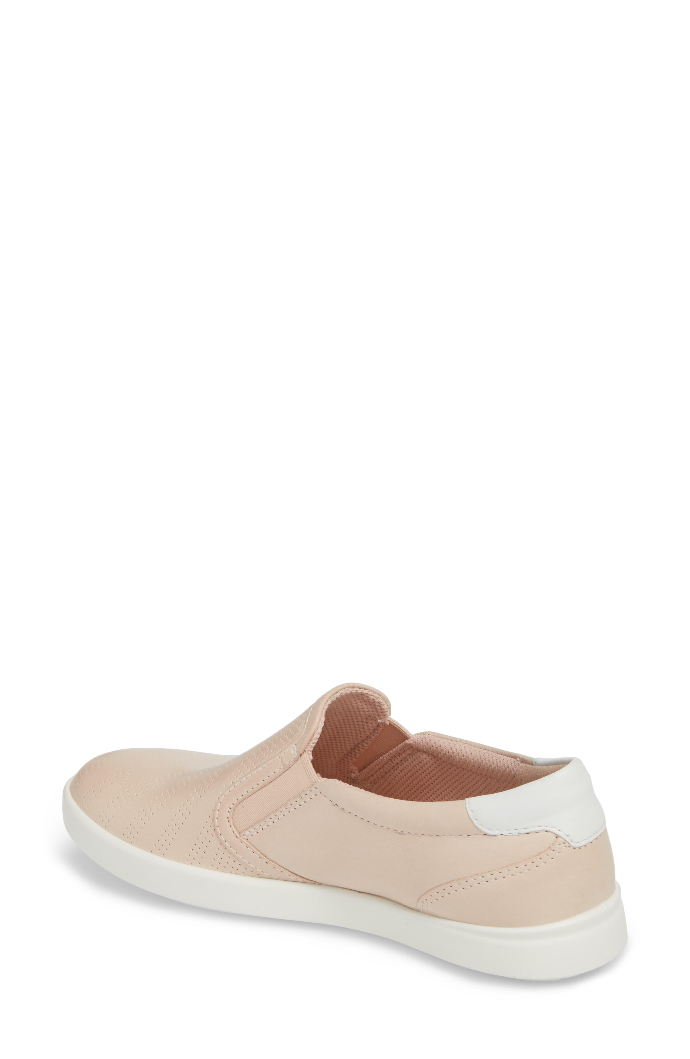 'Aimee' Slip-On Sneaker,                             Alternate thumbnail 2, color,                             Rose Dust Leather
