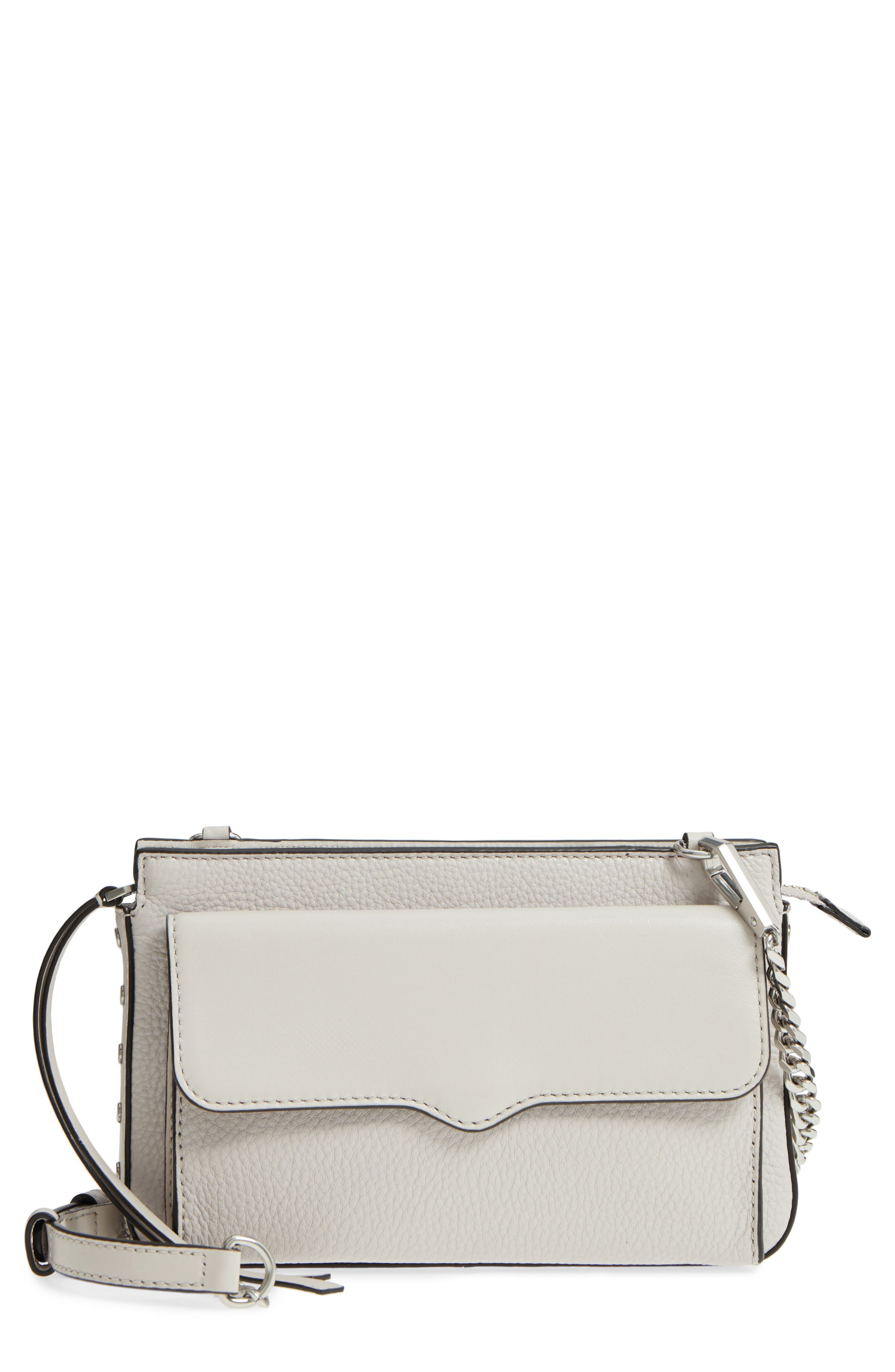 Small Bree Leather Crossbody Bag,                         Main,                         color, Putty