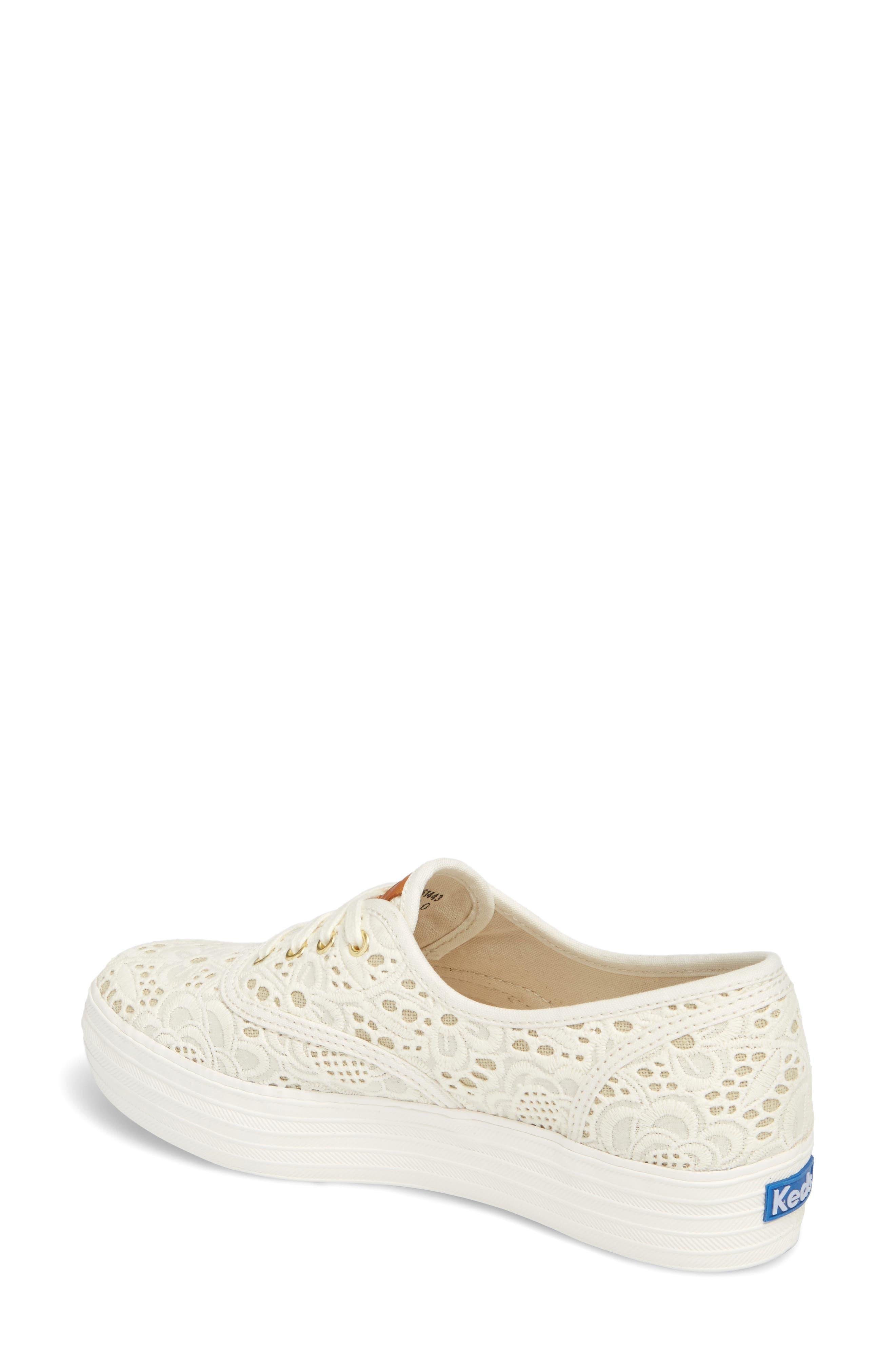 Alternate Image 2  - Keds® Triple Embroidered Crochet Platform Sneaker (Women)