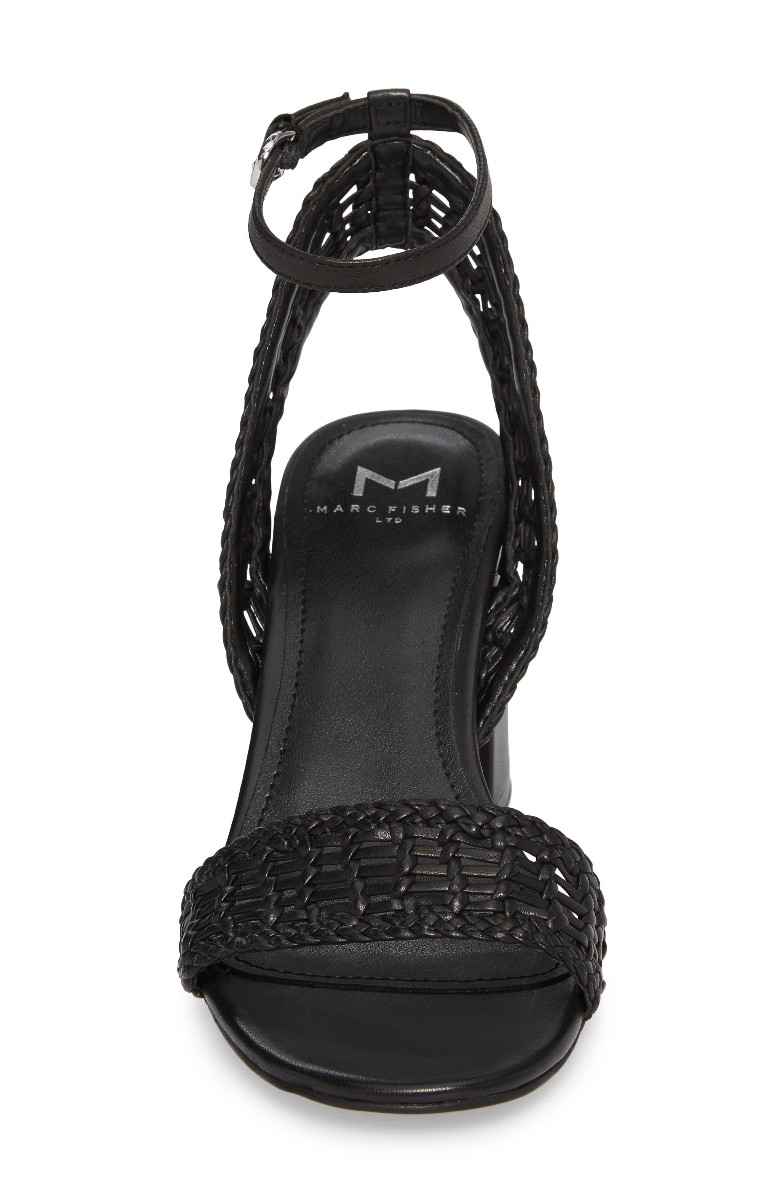 Amere Ankle Strap Sandal,                             Alternate thumbnail 4, color,                             Black Leather