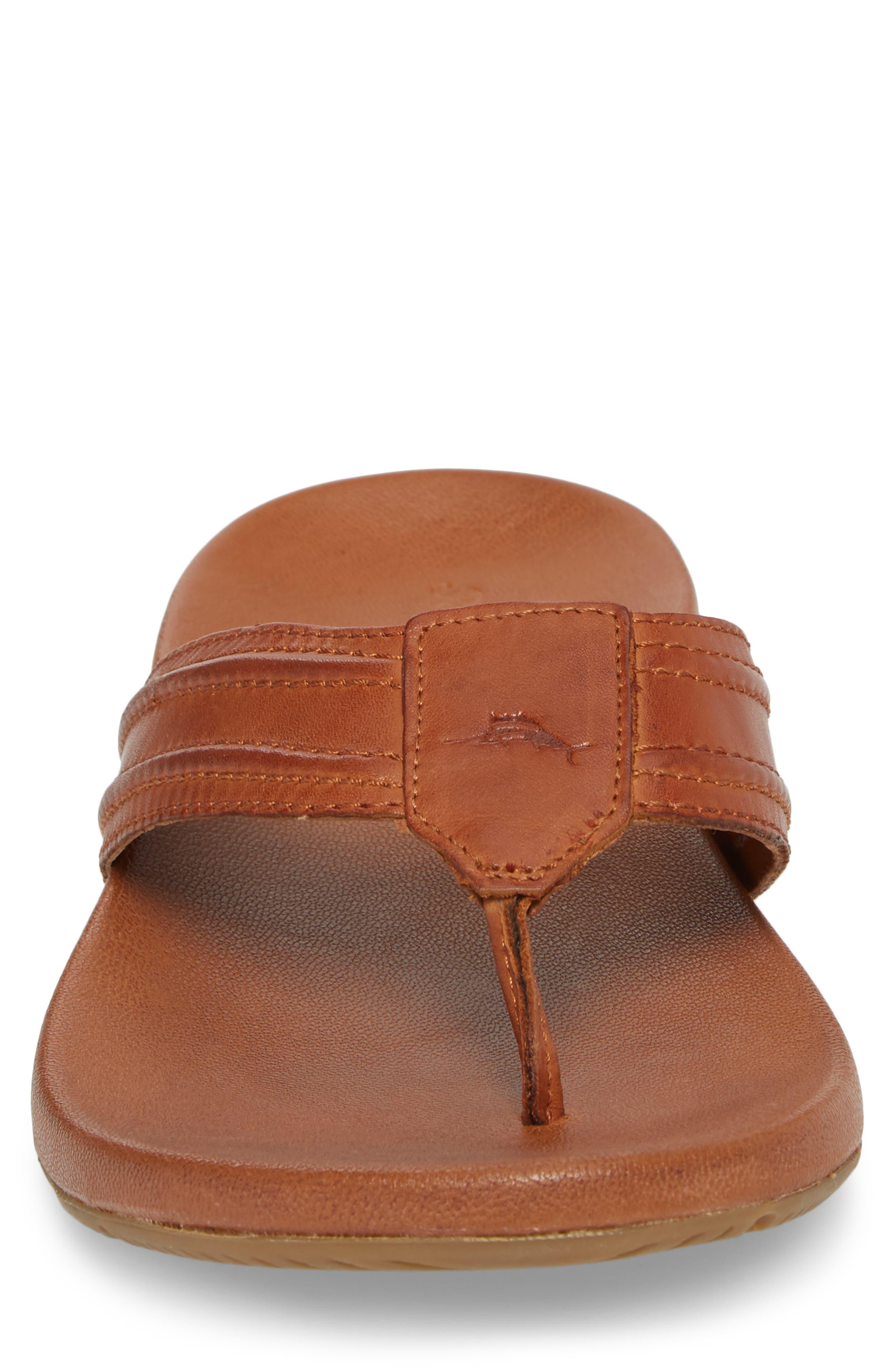 Mayaguana Flip Flop,                             Alternate thumbnail 4, color,                             Tan Leather