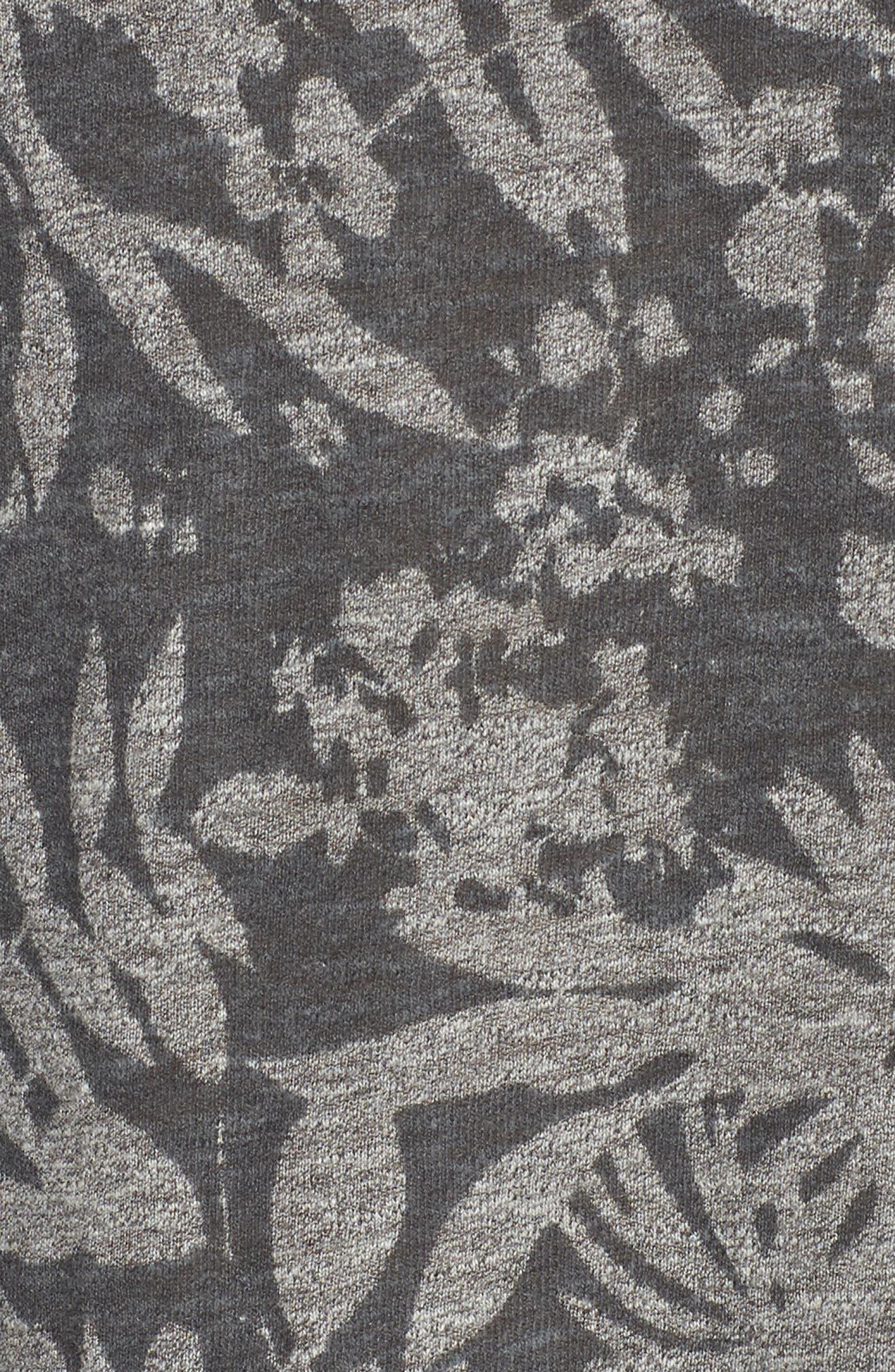 Floral Print Tank,                             Alternate thumbnail 6, color,                             Heather Grey