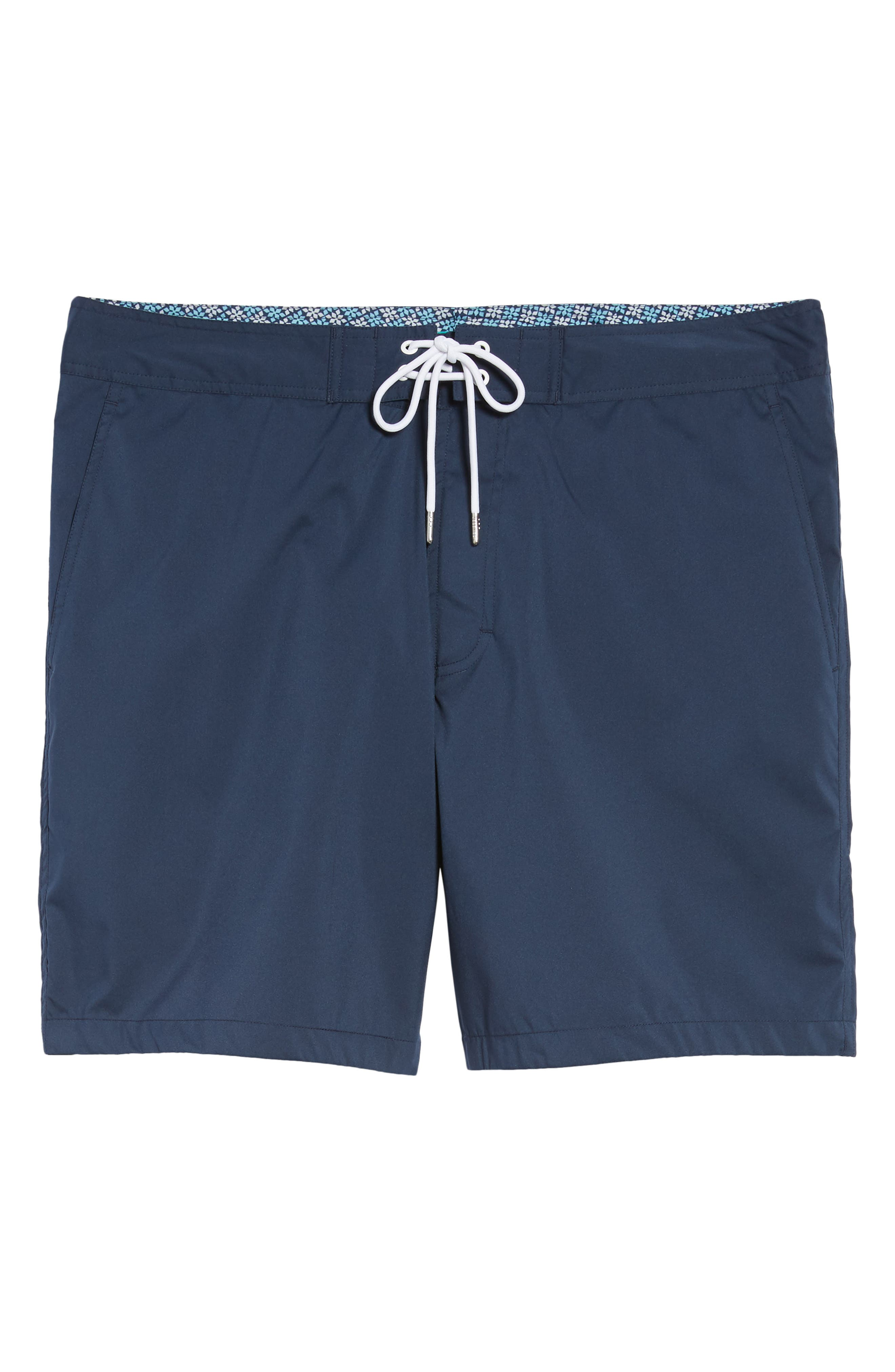Solid 7-Inch Swim Trunks,                             Alternate thumbnail 6, color,                             Indio