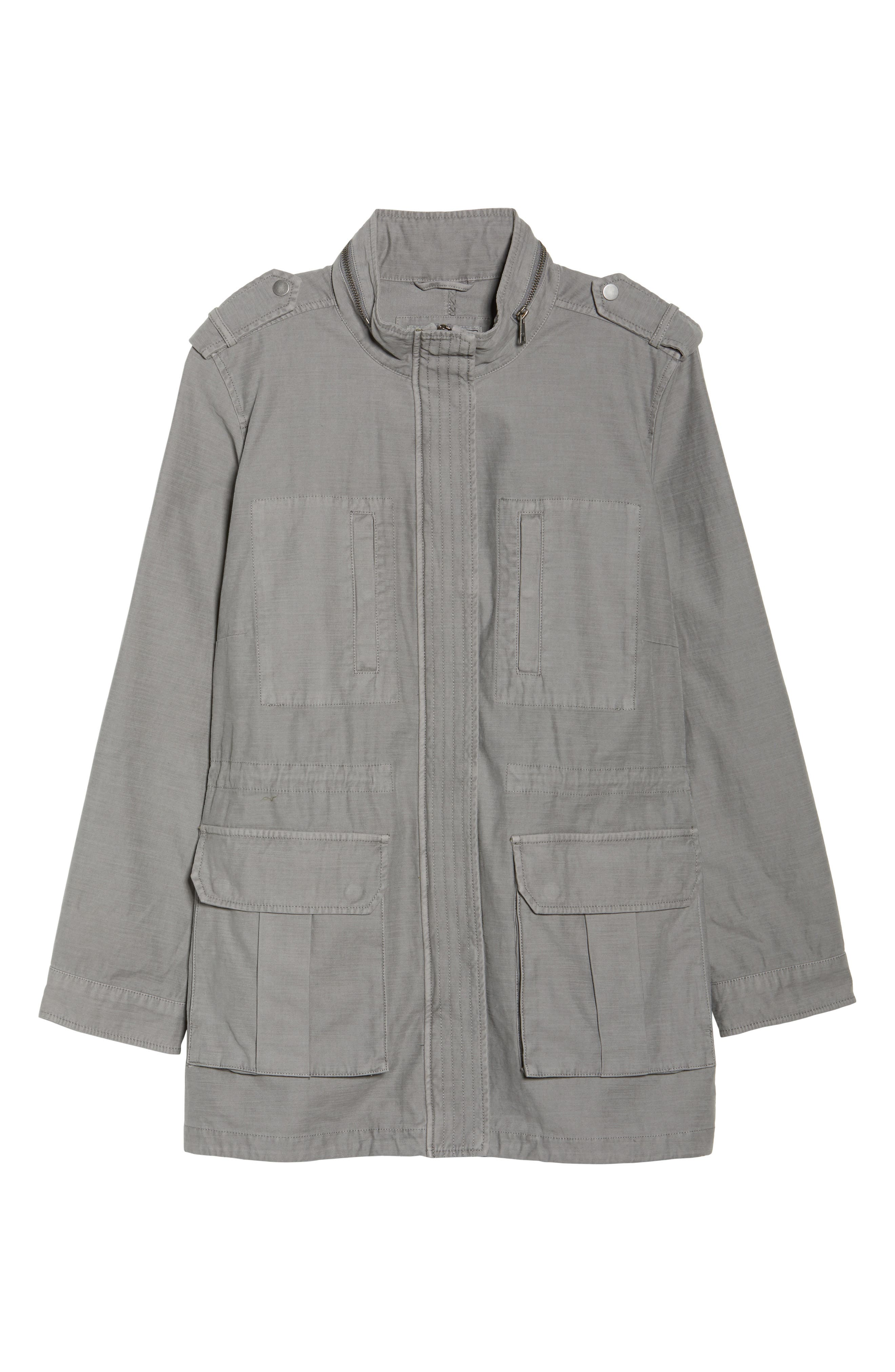 Cotton Fishtail Field Jacket,                             Alternate thumbnail 6, color,                             Grey