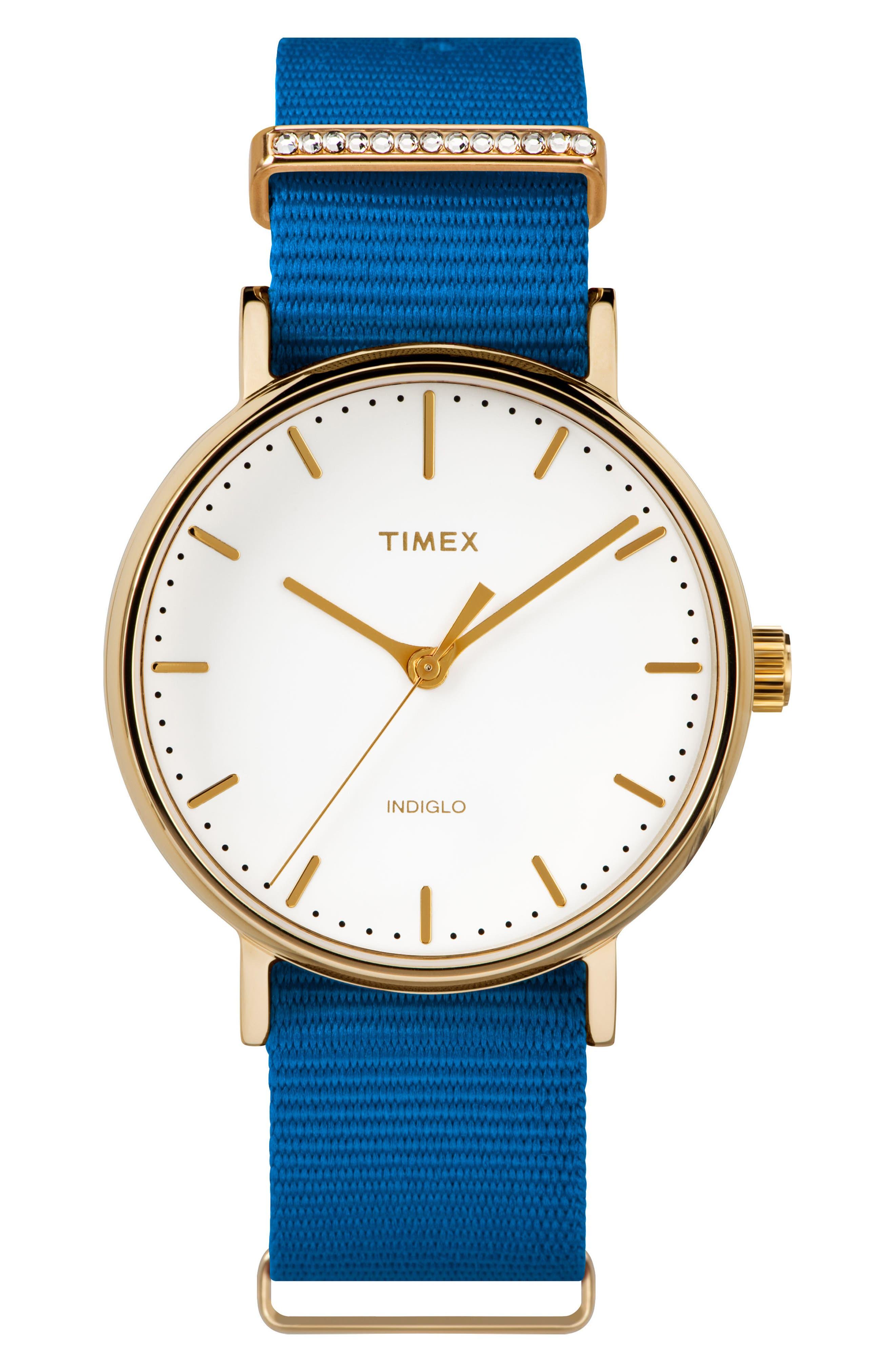 Timex® Fairfield Nylon Strap Watch, 37mm