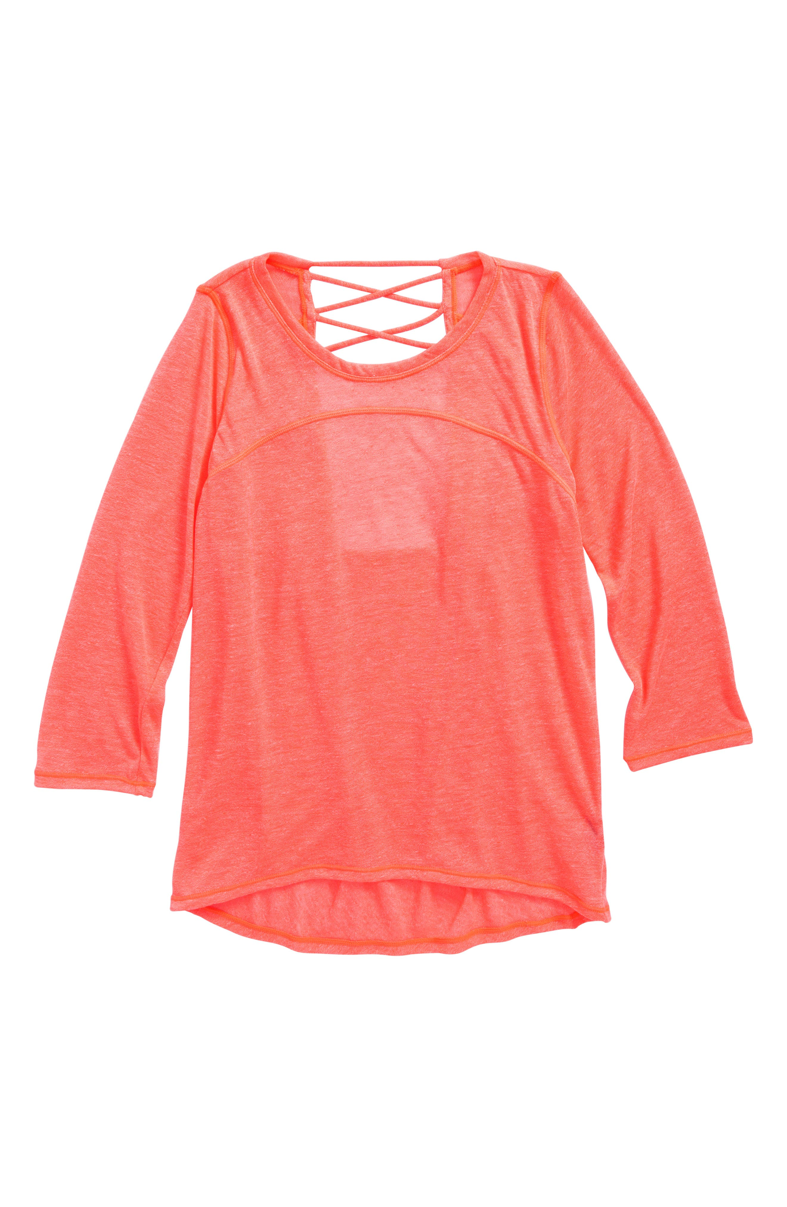 Zella Girl Cowl Back Tee (Little Girls & Big Girls)