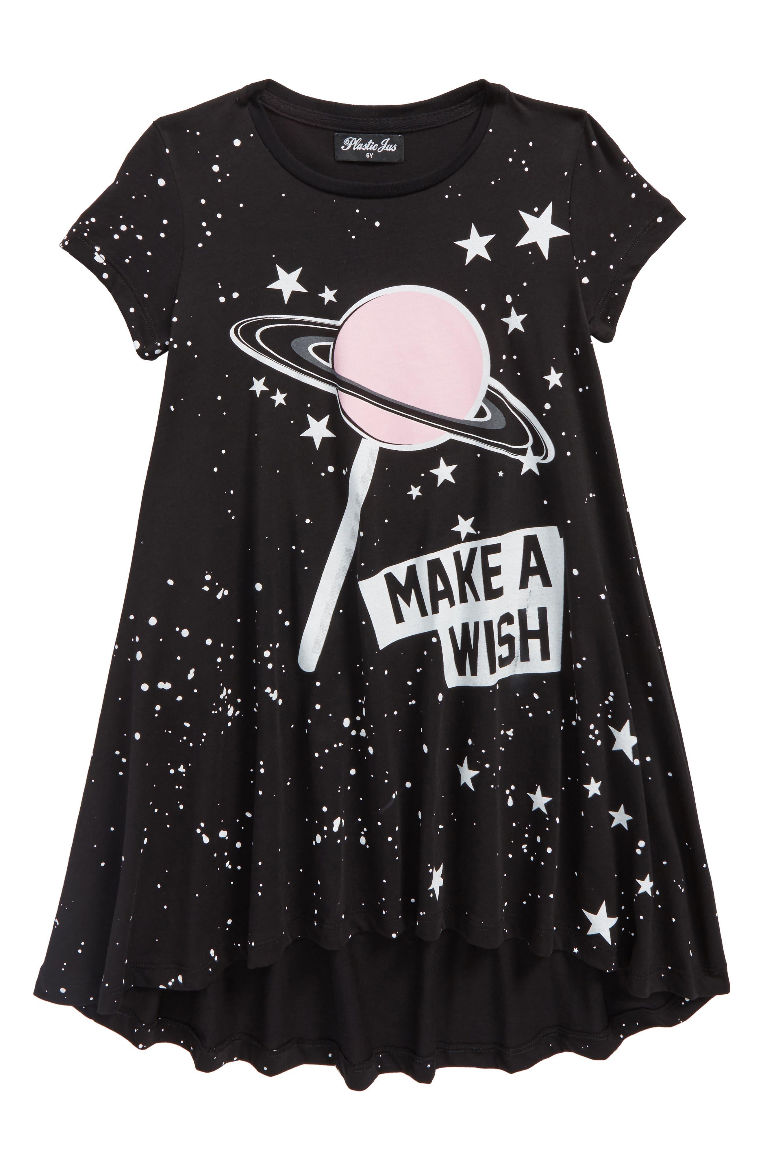 Space Lollipop Twirl Dress,                             Main thumbnail 1, color,                             Black Pink