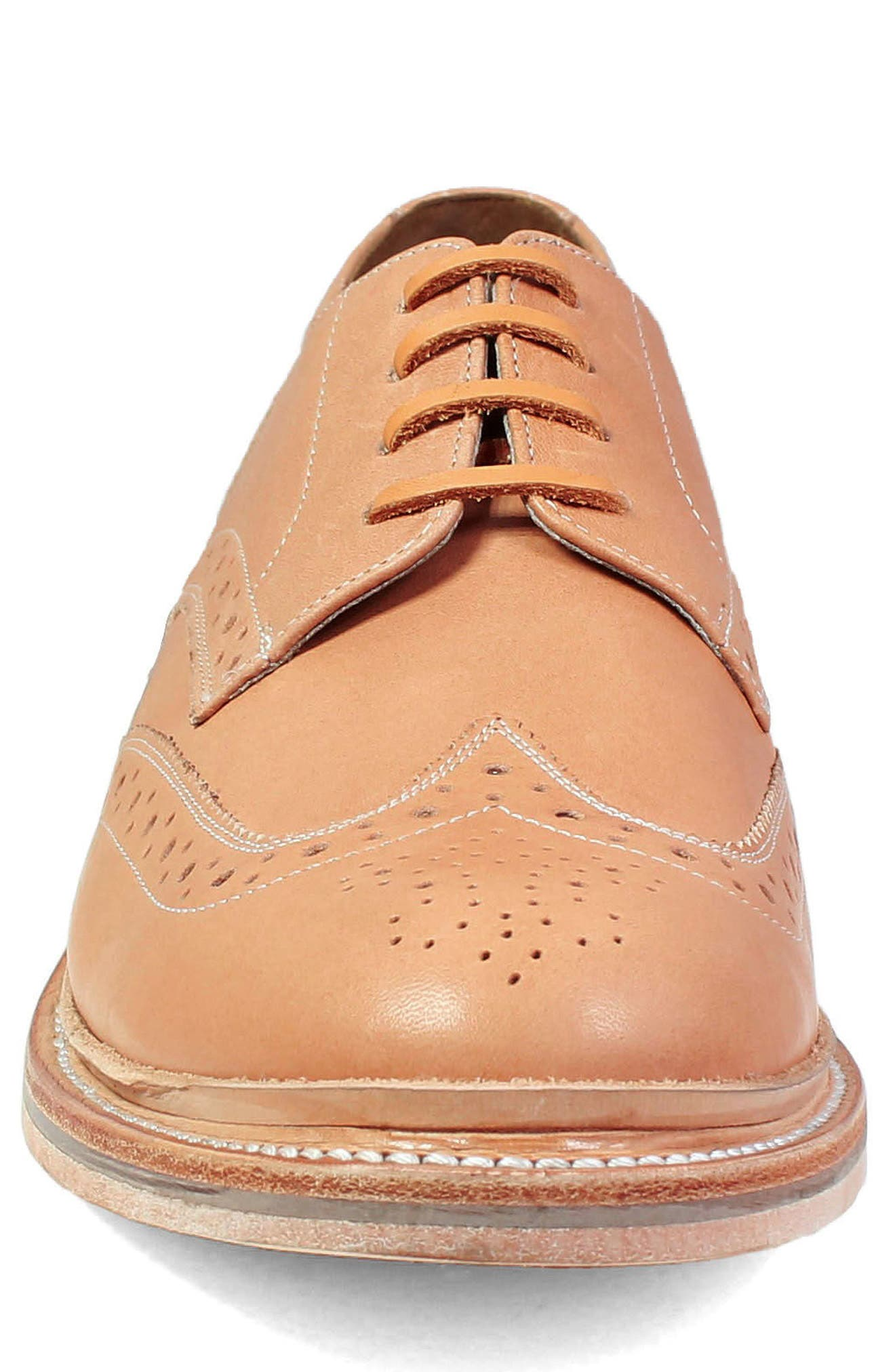 M2 Wingtip Derby,                             Alternate thumbnail 4, color,                             Natural Leather