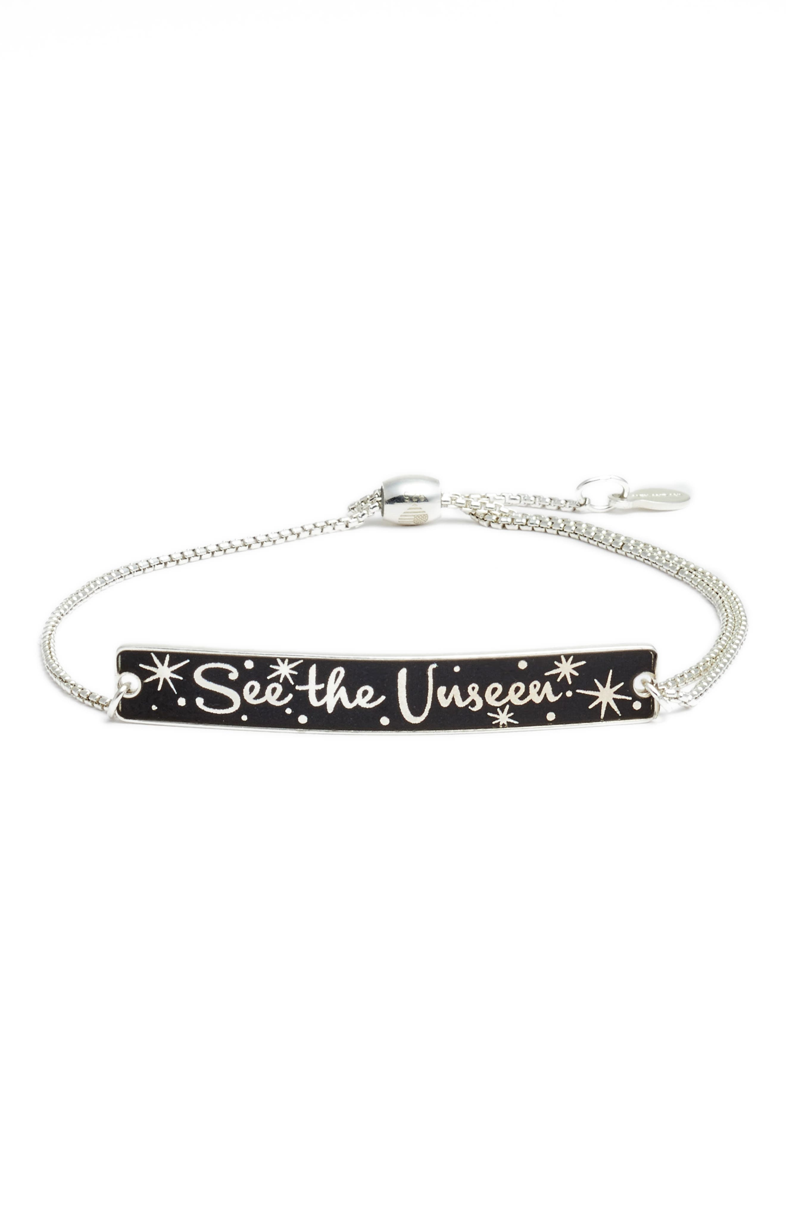 x Disney<sup>®</sup> 'A Wrinkle in Time' See the Unseen Pull-Chain Bracelet,                             Main thumbnail 1, color,                             Silver