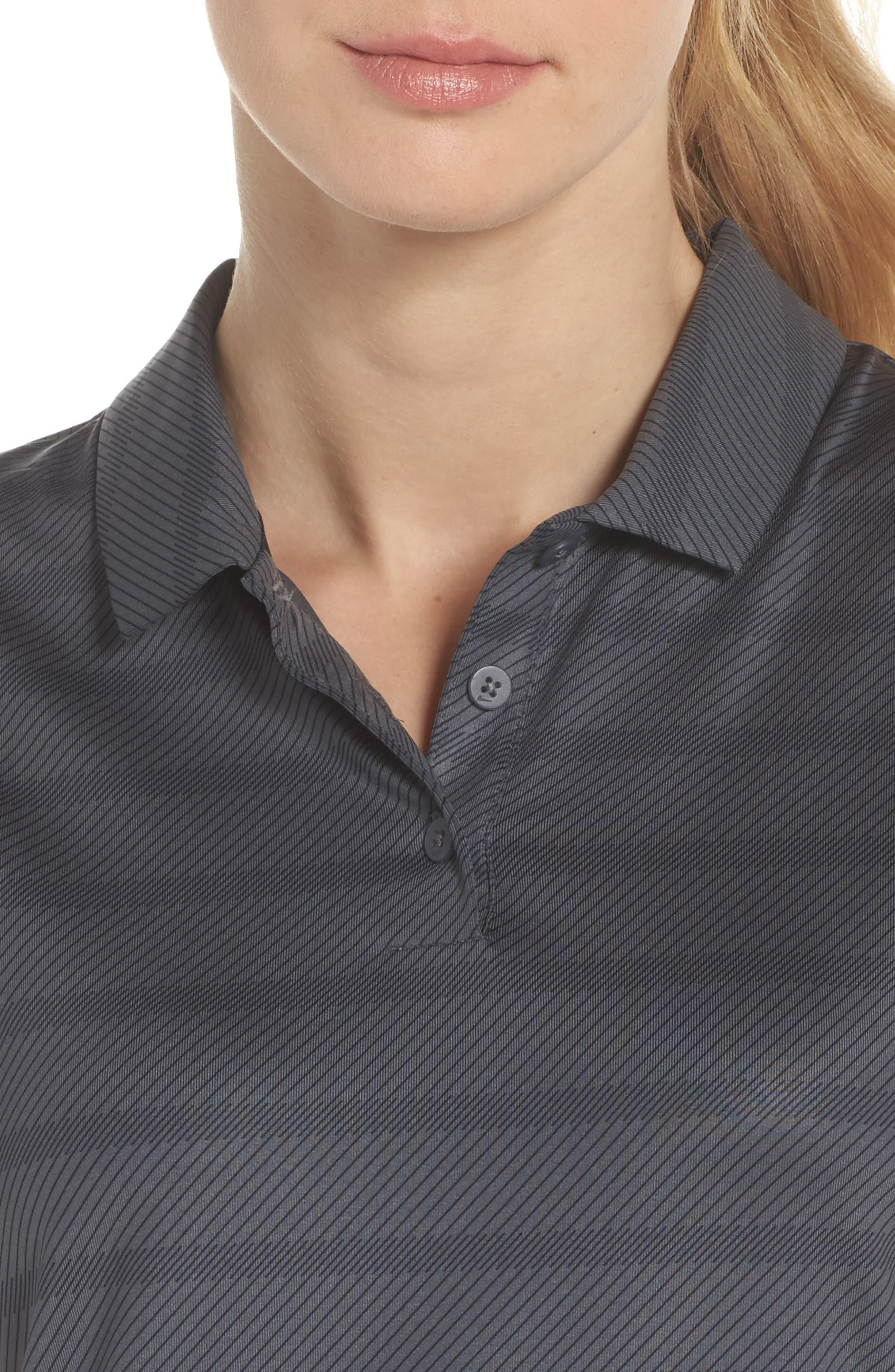 Dry Golf Polo,                             Alternate thumbnail 4, color,                             Dark Grey/ Black/ Black
