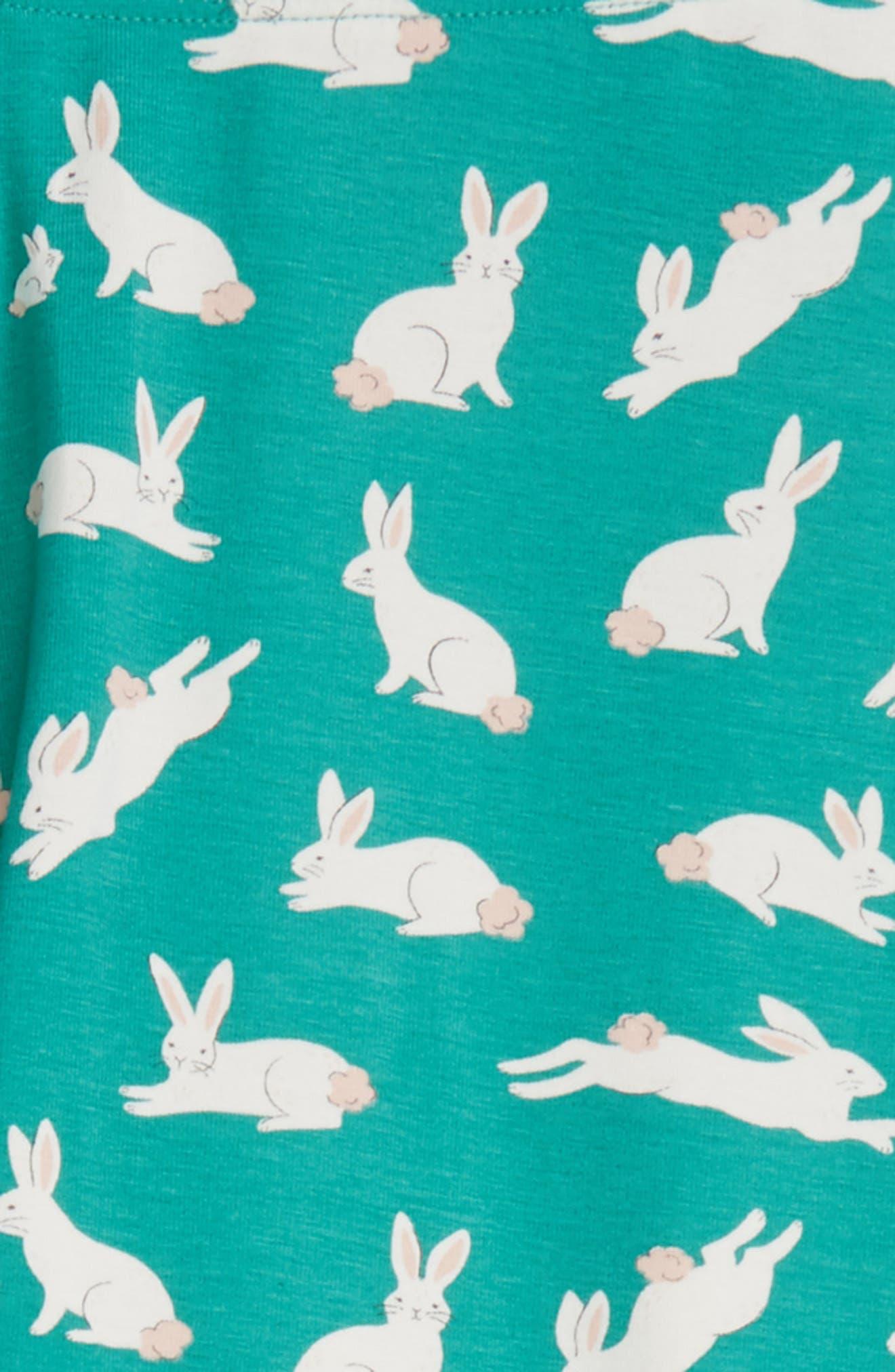 Fun Leggings,                             Alternate thumbnail 2, color,                             Soft Lily Pad Green Bunnies