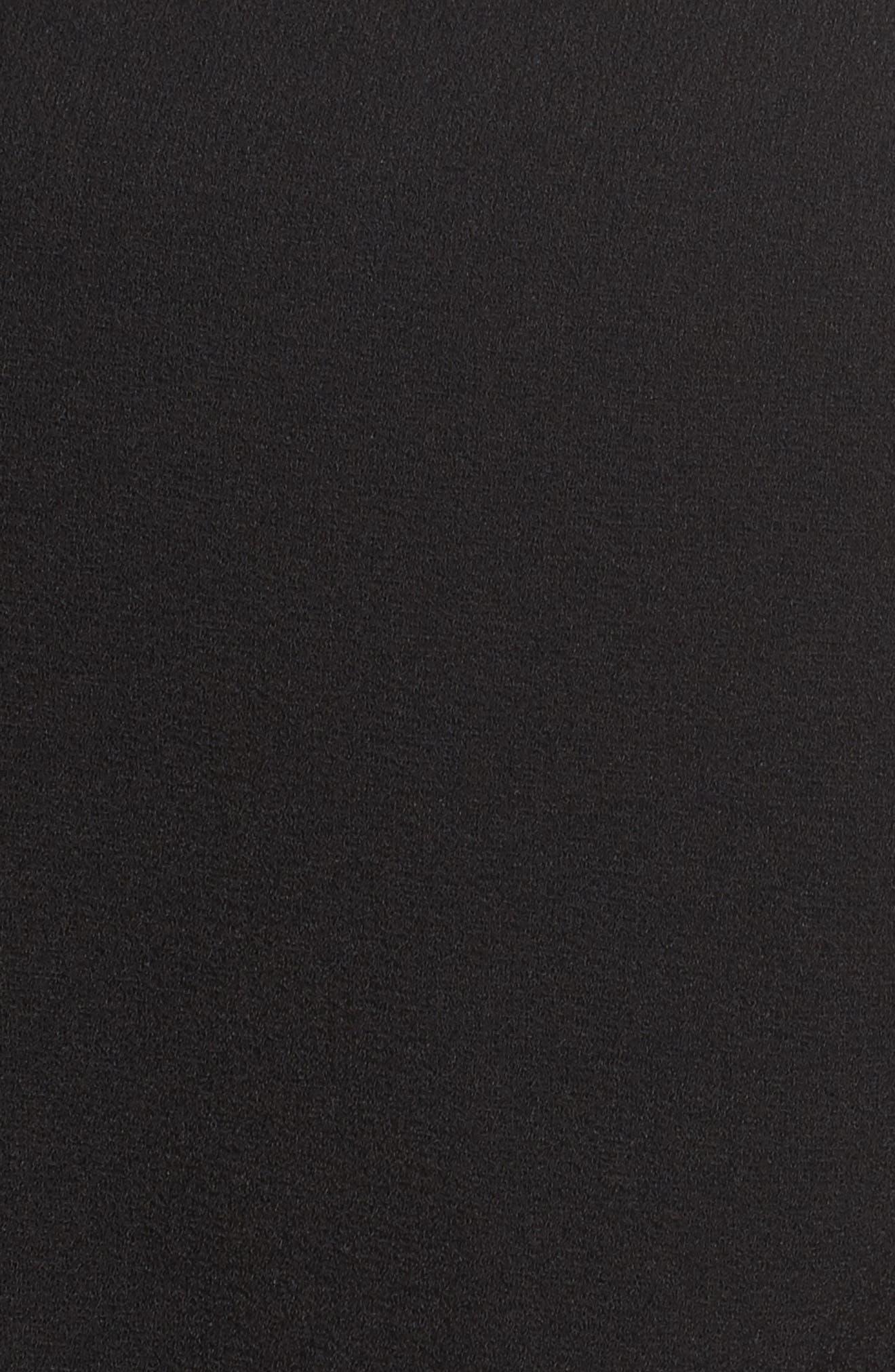 Off the Shoulder Blouson Jumpsuit,                             Alternate thumbnail 5, color,                             Black