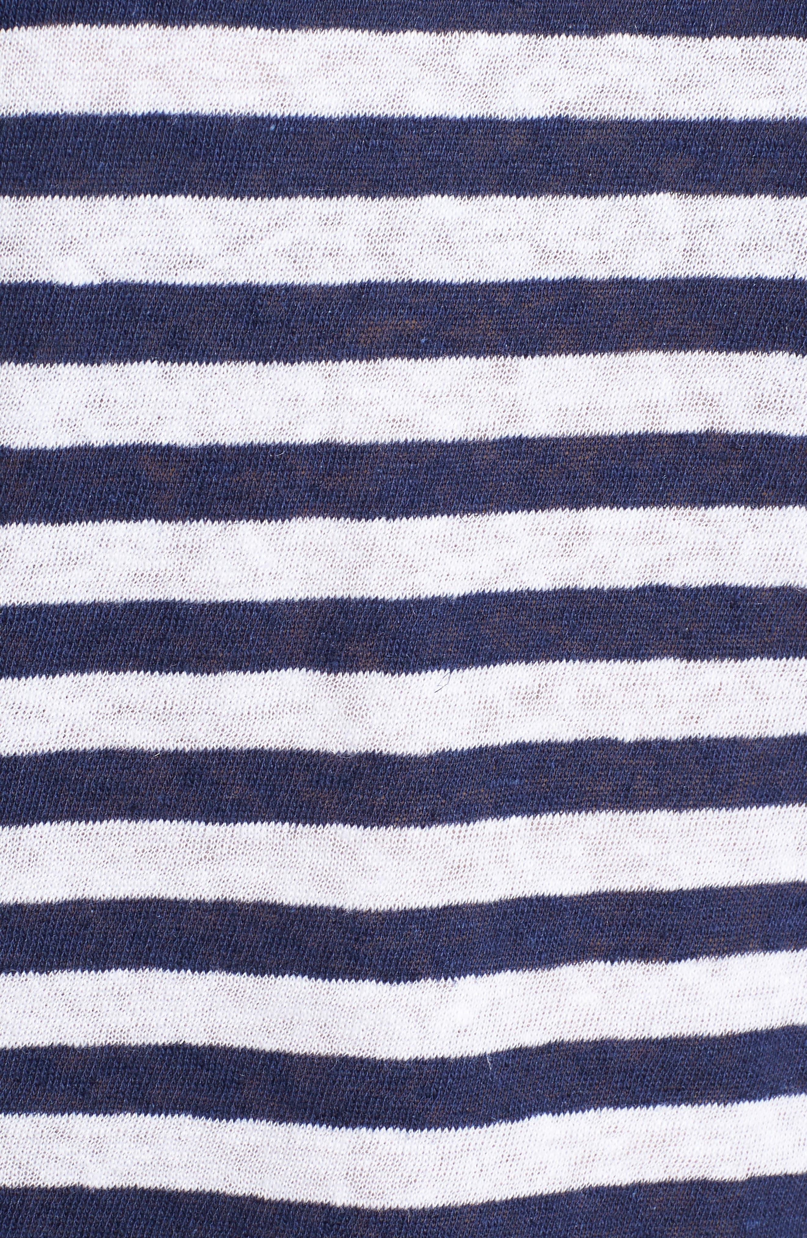 Linen Roll Sleeve Pocket Tee,                             Alternate thumbnail 6, color,                             Deep Bay