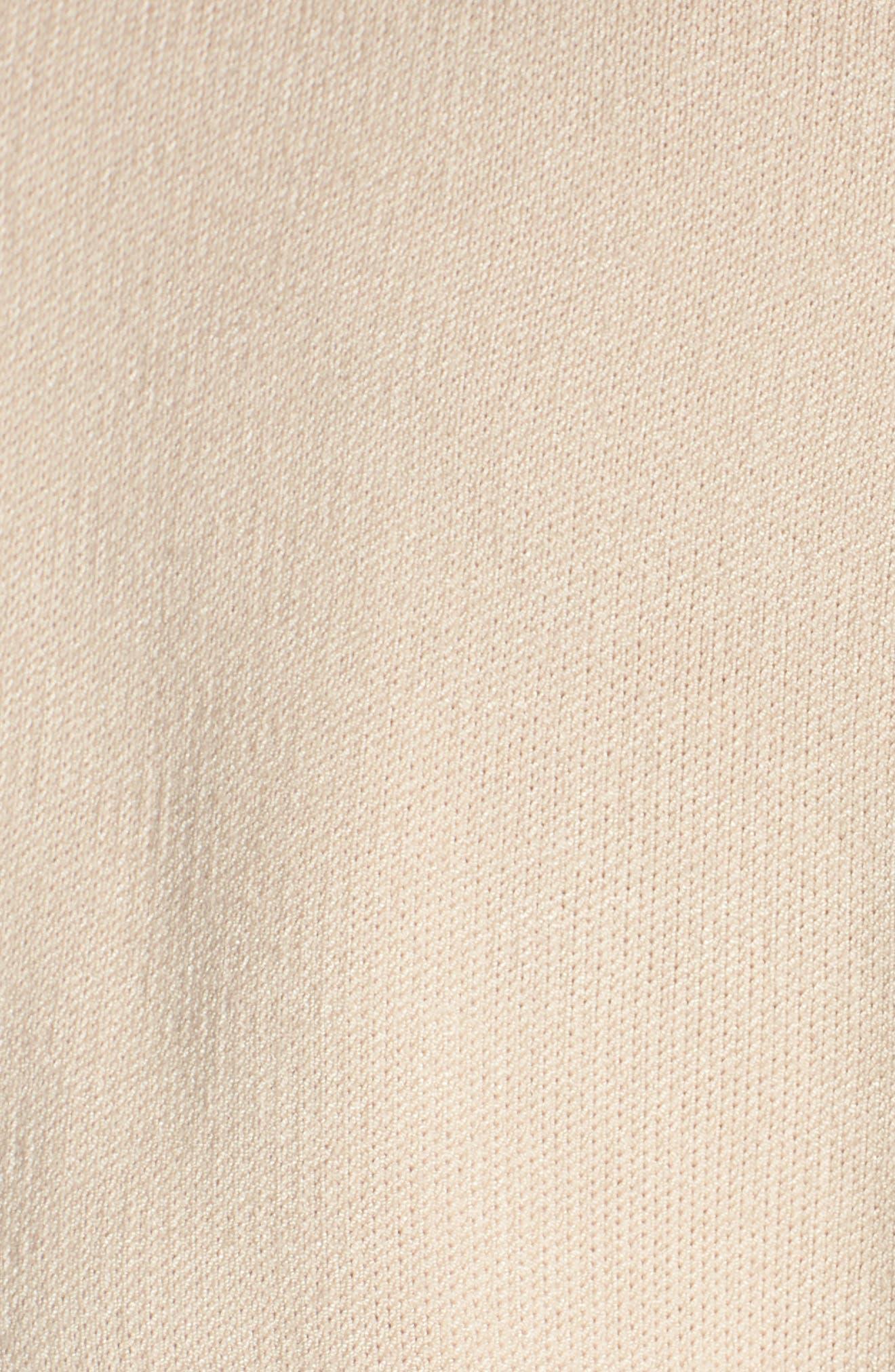 Twist Front Stripe Sleeve Sweatshirt,                             Alternate thumbnail 6, color,                             Ivory