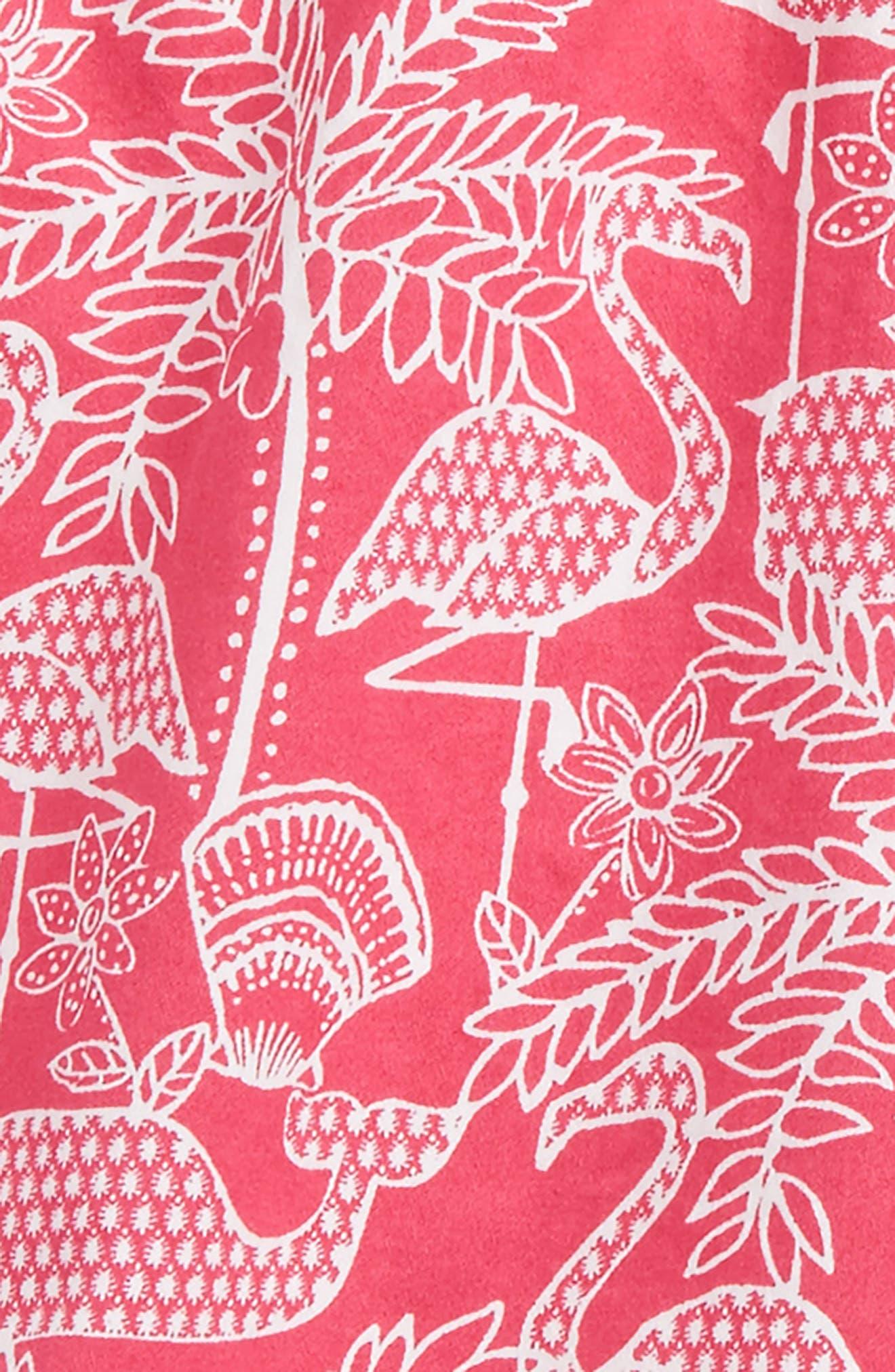 Flamingo Print Shorts,                             Alternate thumbnail 2, color,                             Rhododendron