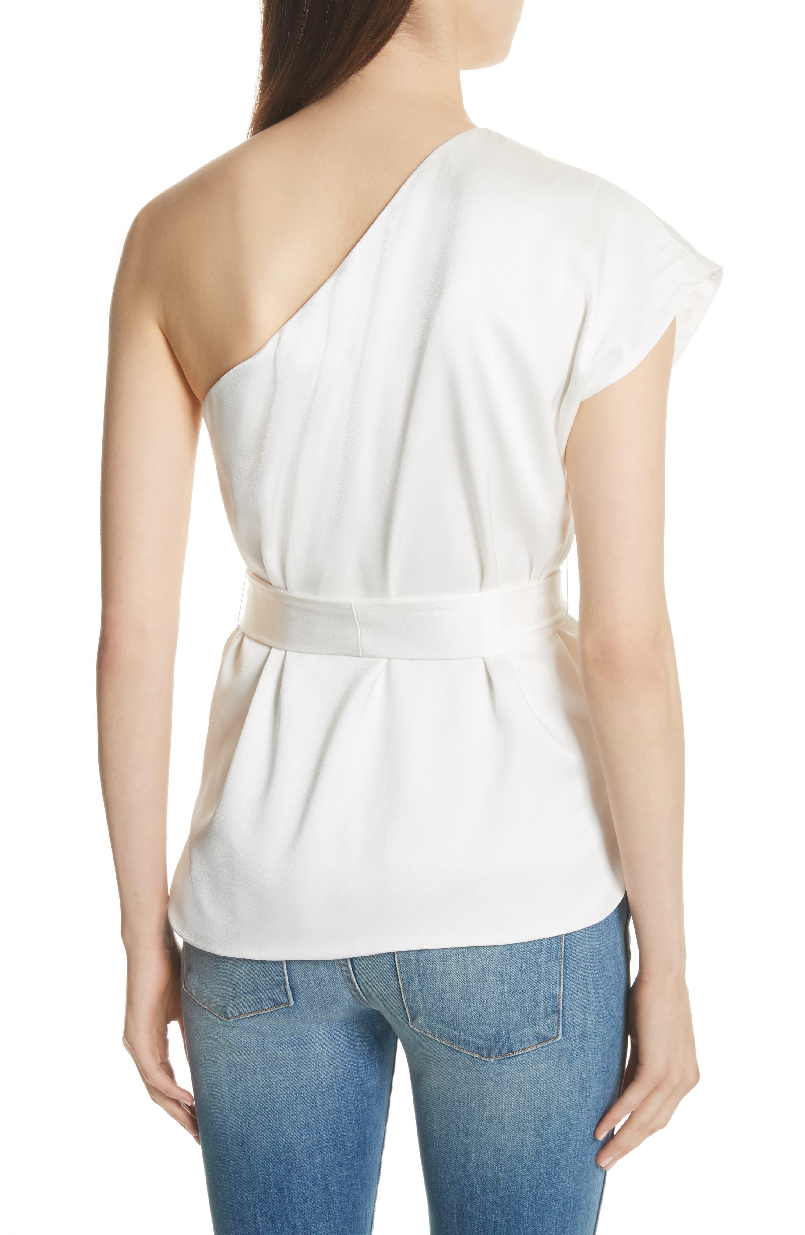 Lavine One-Shoulder Top,                             Alternate thumbnail 2, color,                             White