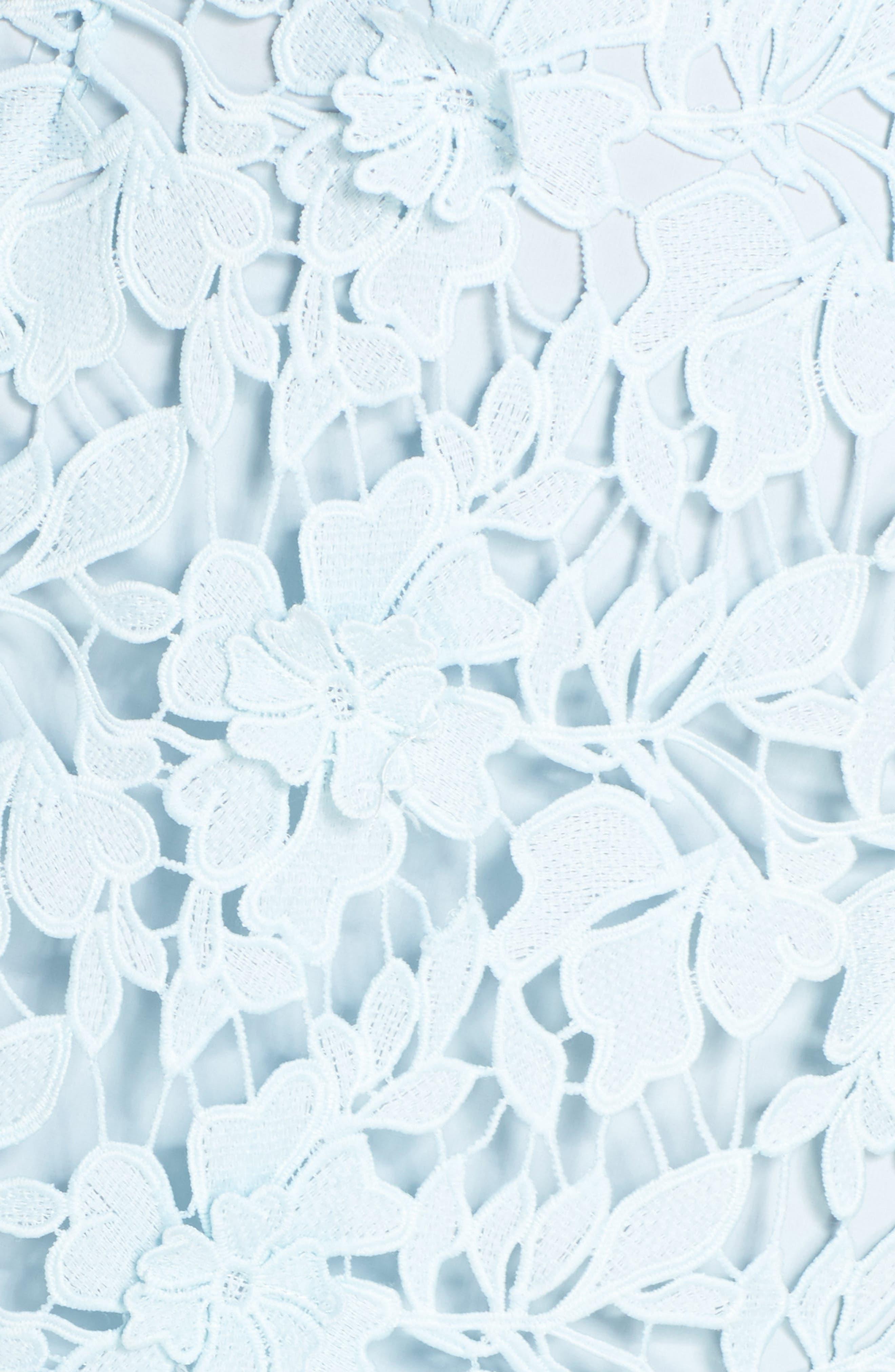 Lidia Lace Midi Dress,                             Alternate thumbnail 5, color,                             Blue