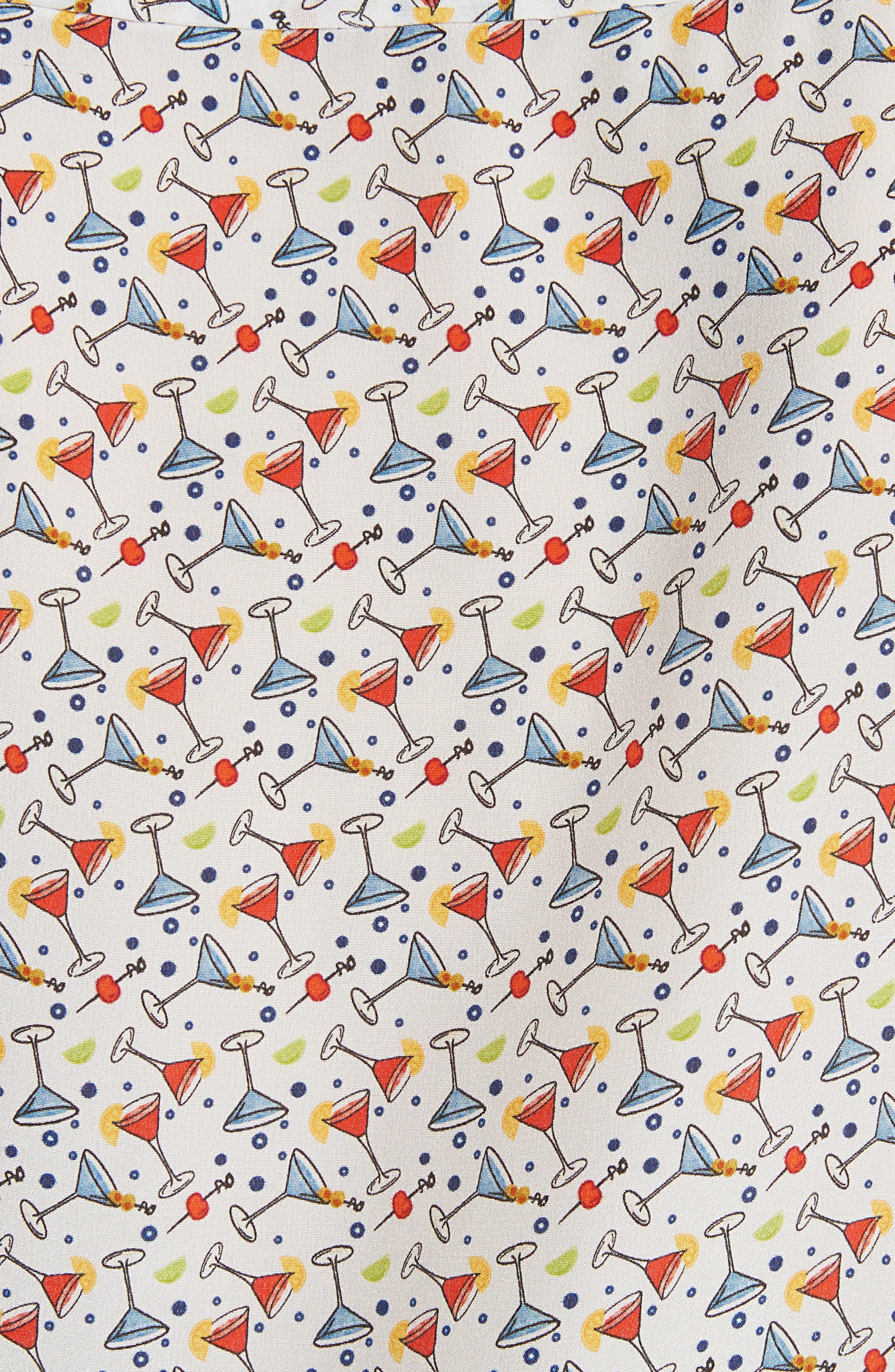 Salome Print Silk Blouse,                             Alternate thumbnail 5, color,                             Martini