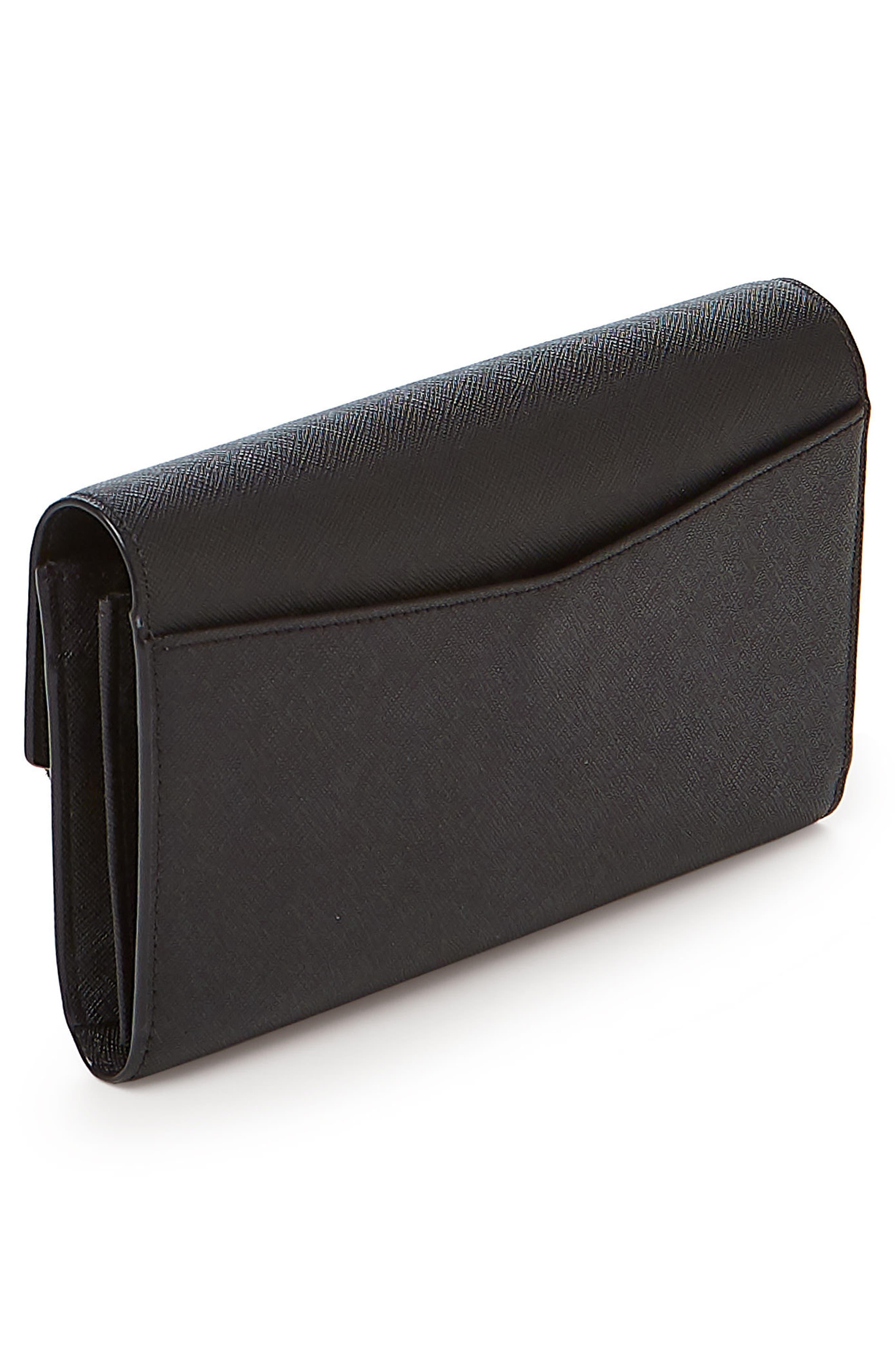 Cobble Hill Calfskin Leather Wallet,                             Alternate thumbnail 3, color,                             Black