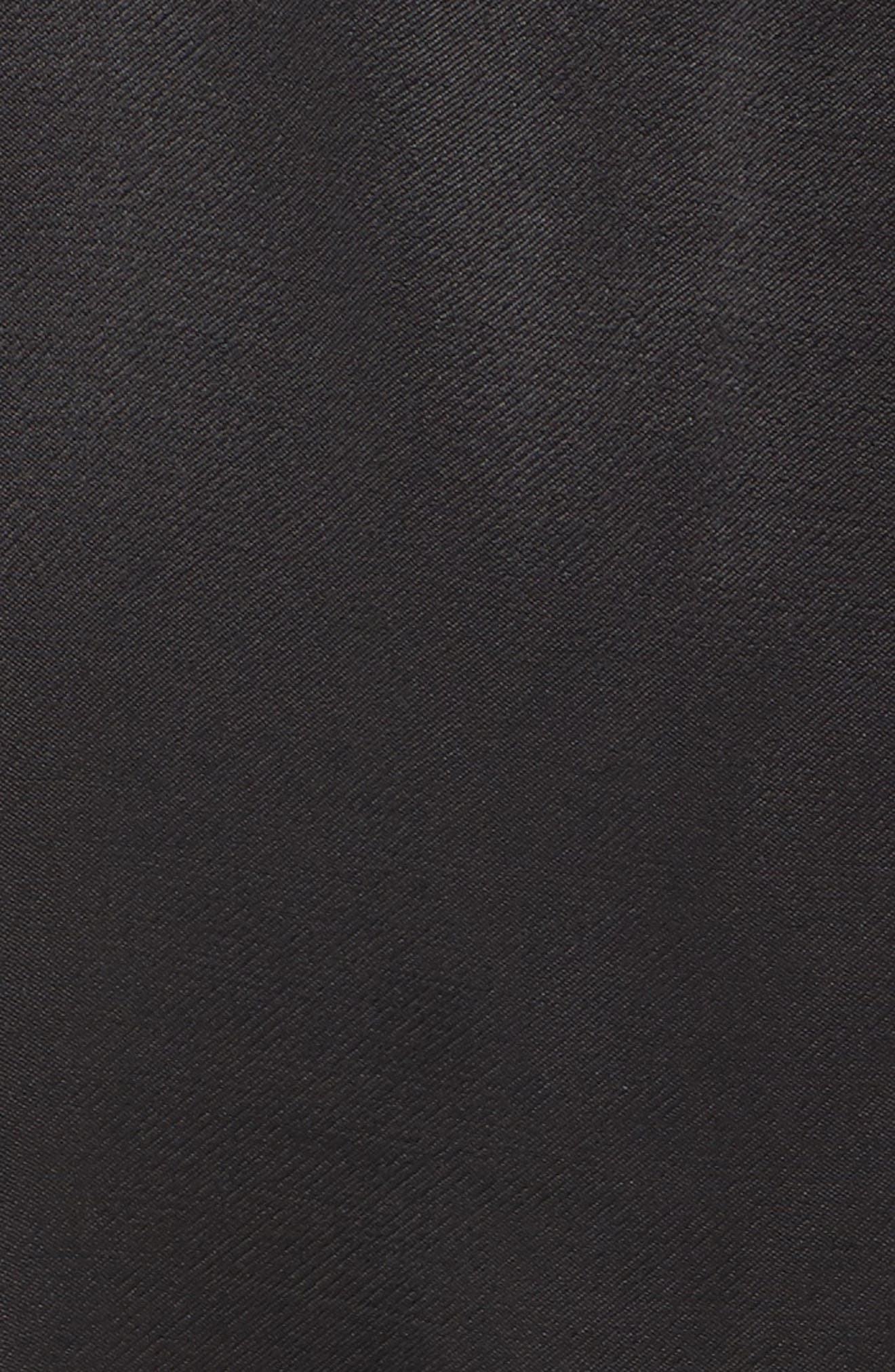 Cassia Ruffle Trim Shirtdress,                             Alternate thumbnail 5, color,                             Black