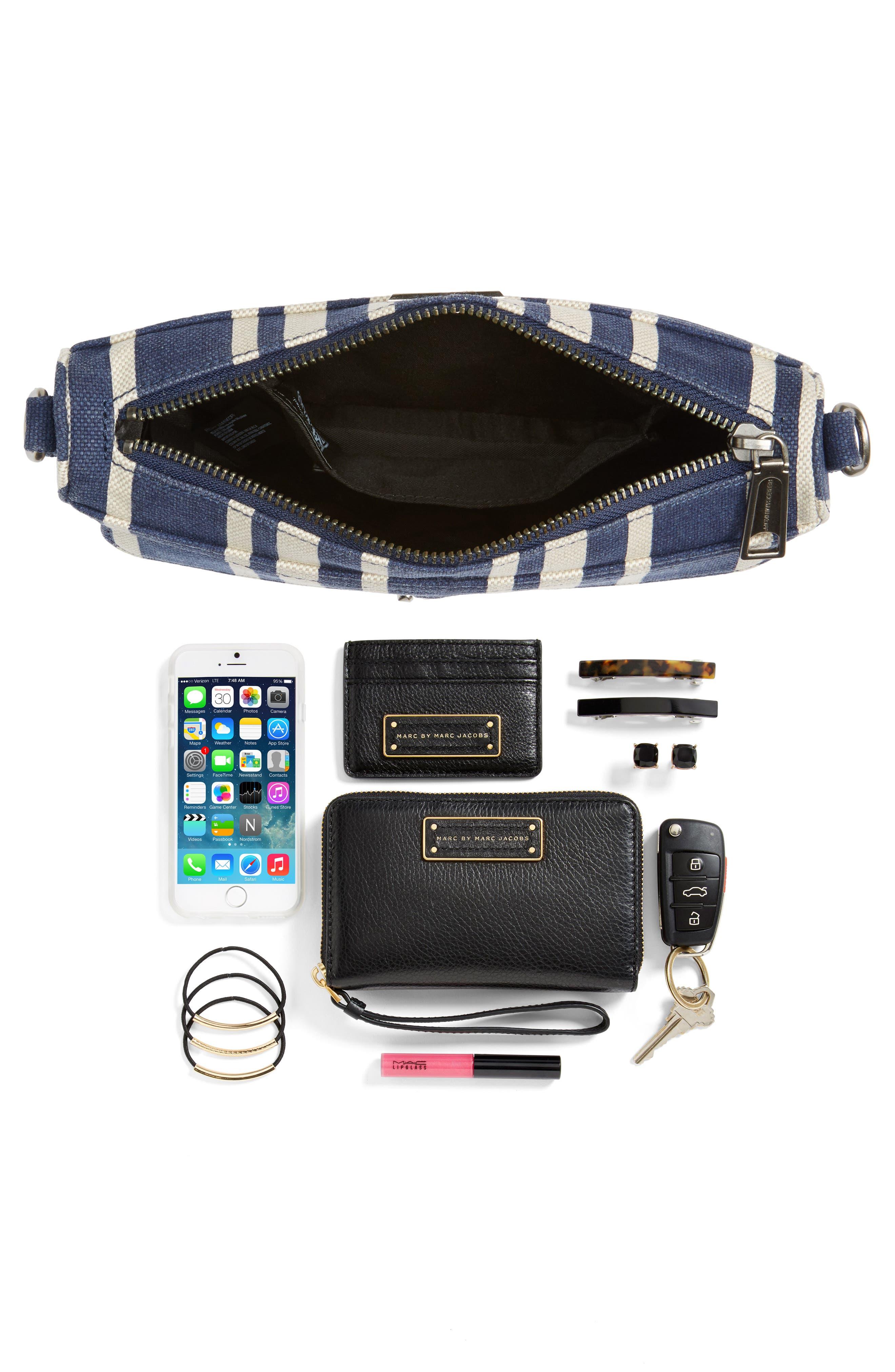 Mini MAC Stripe Canvas Convertible Crossbody Bag,                             Alternate thumbnail 7, color,