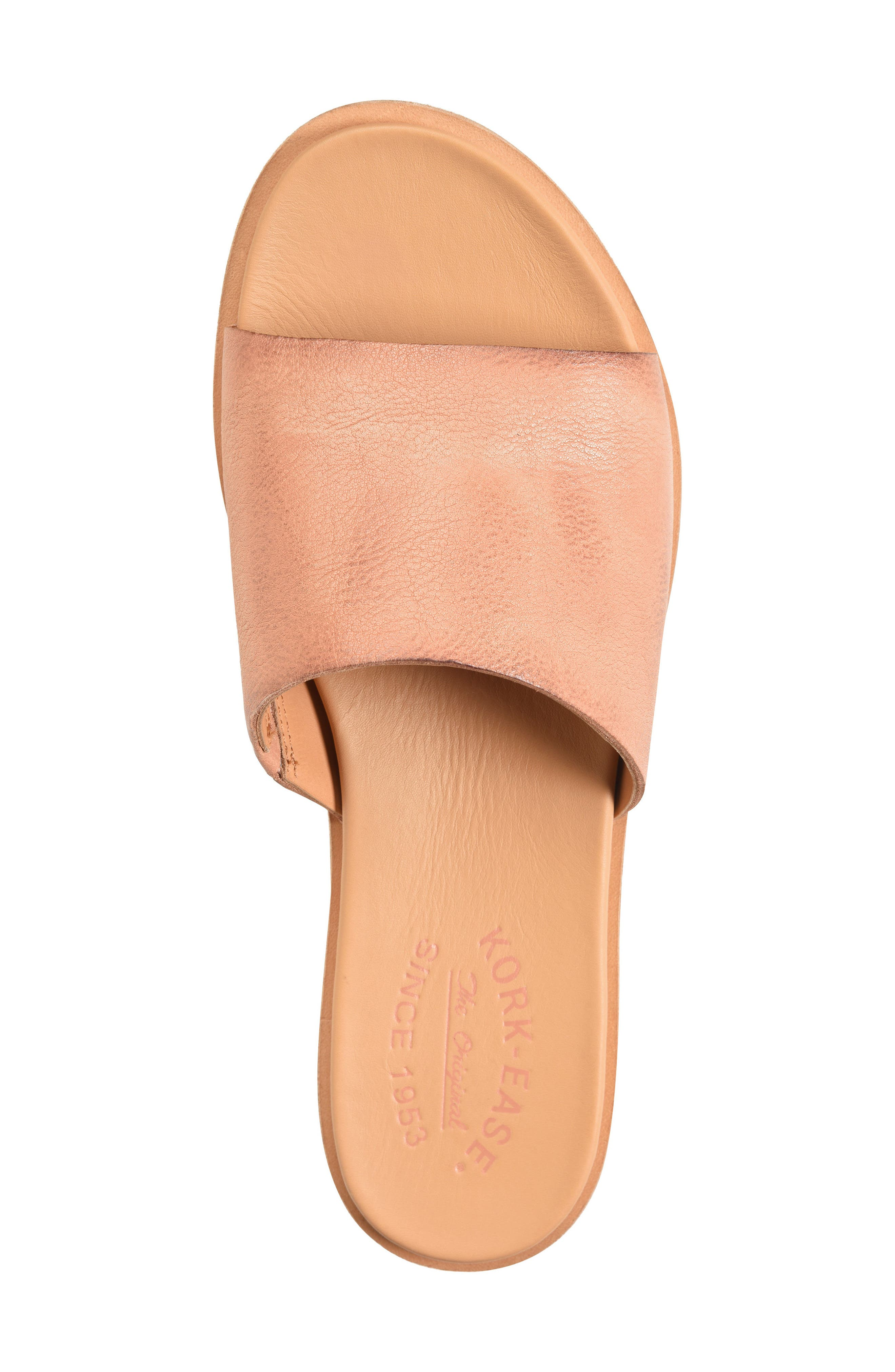 Gila Slide Sandal,                             Alternate thumbnail 5, color,                             Blush Leather