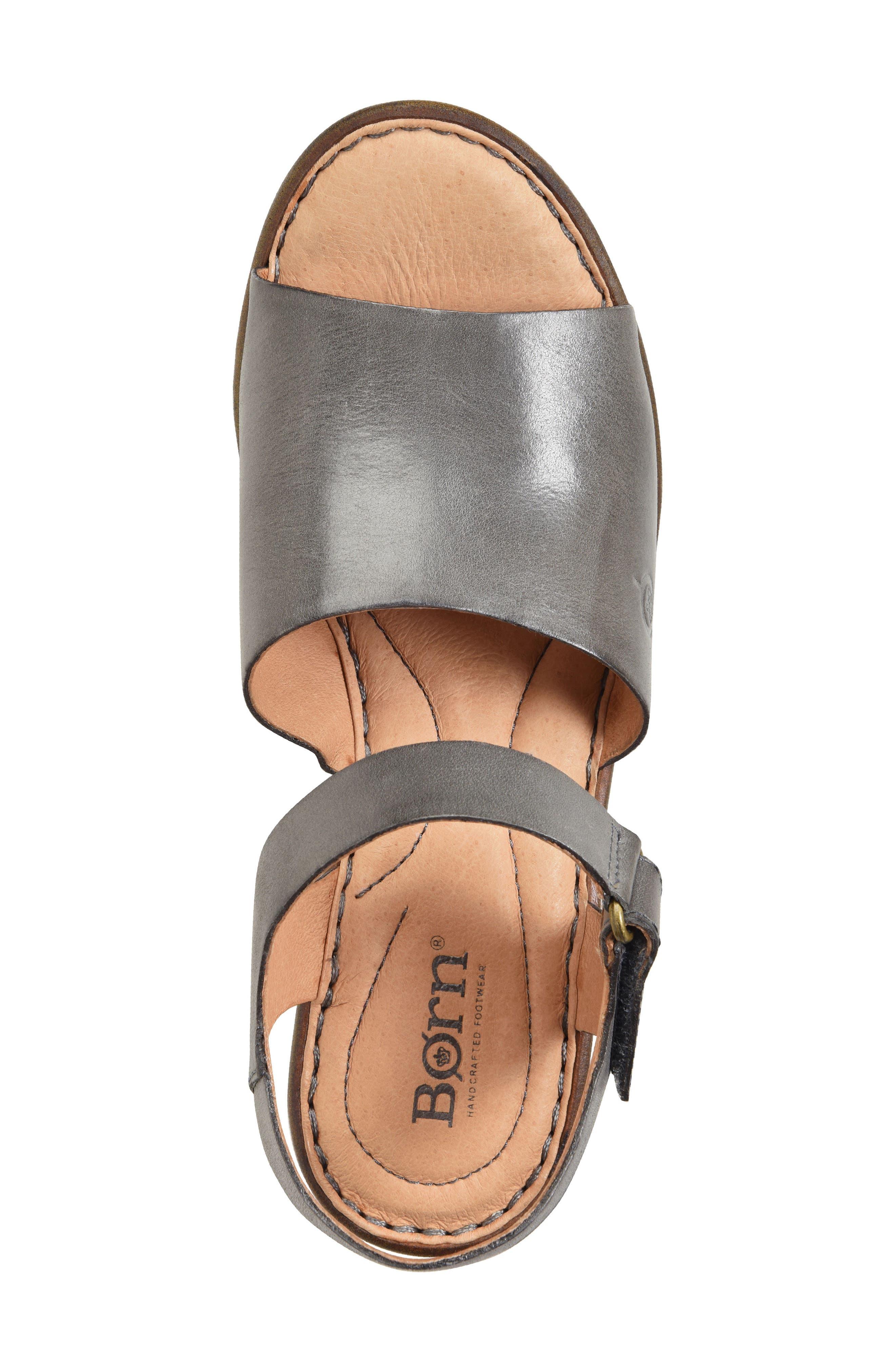 Canna Platform Sandal,                             Alternate thumbnail 5, color,                             Grey Leather
