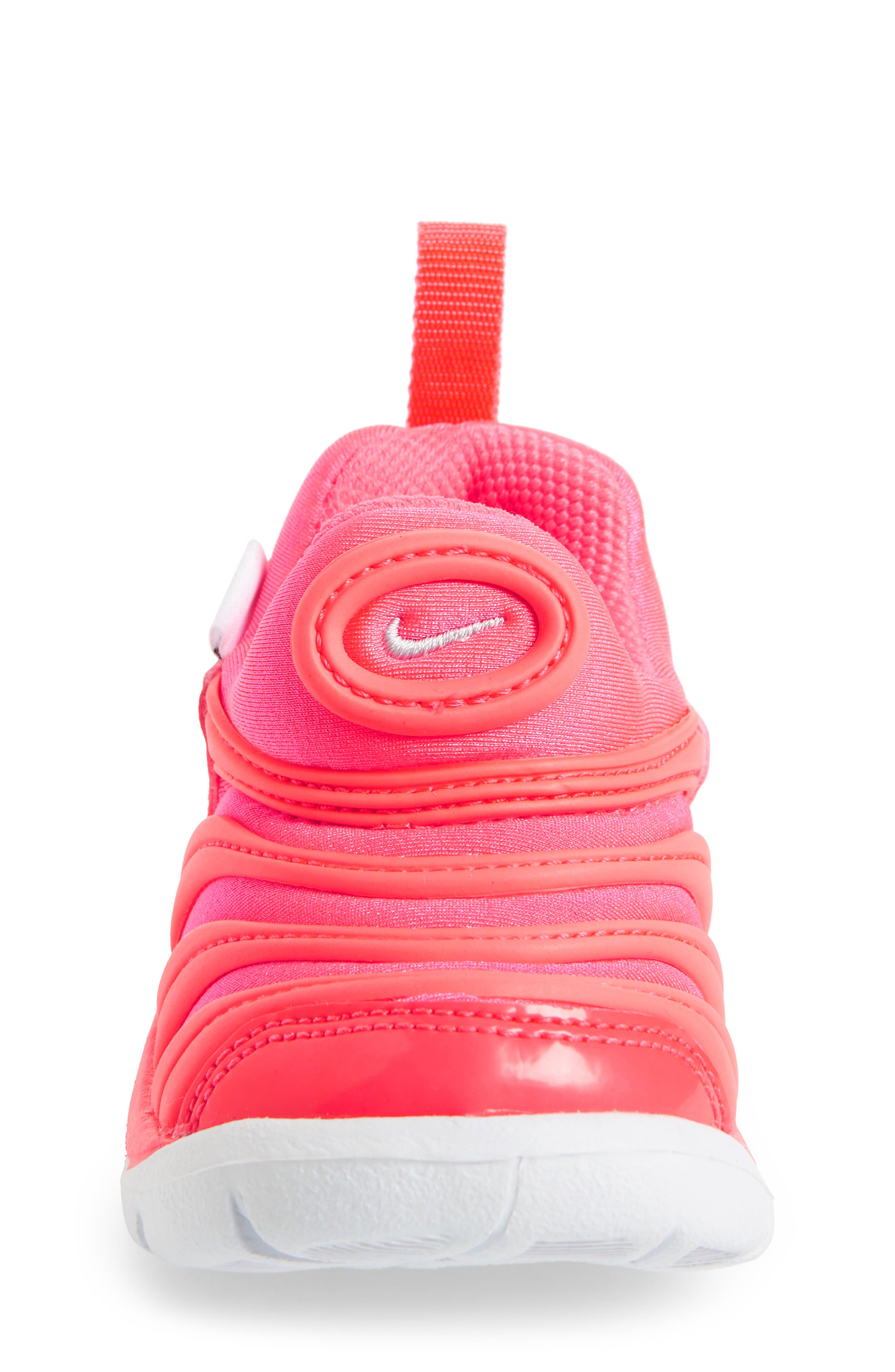 Dynamo Free Sneaker,                             Alternate thumbnail 4, color,                             Racer Pink/ Silver/ Hot Punch