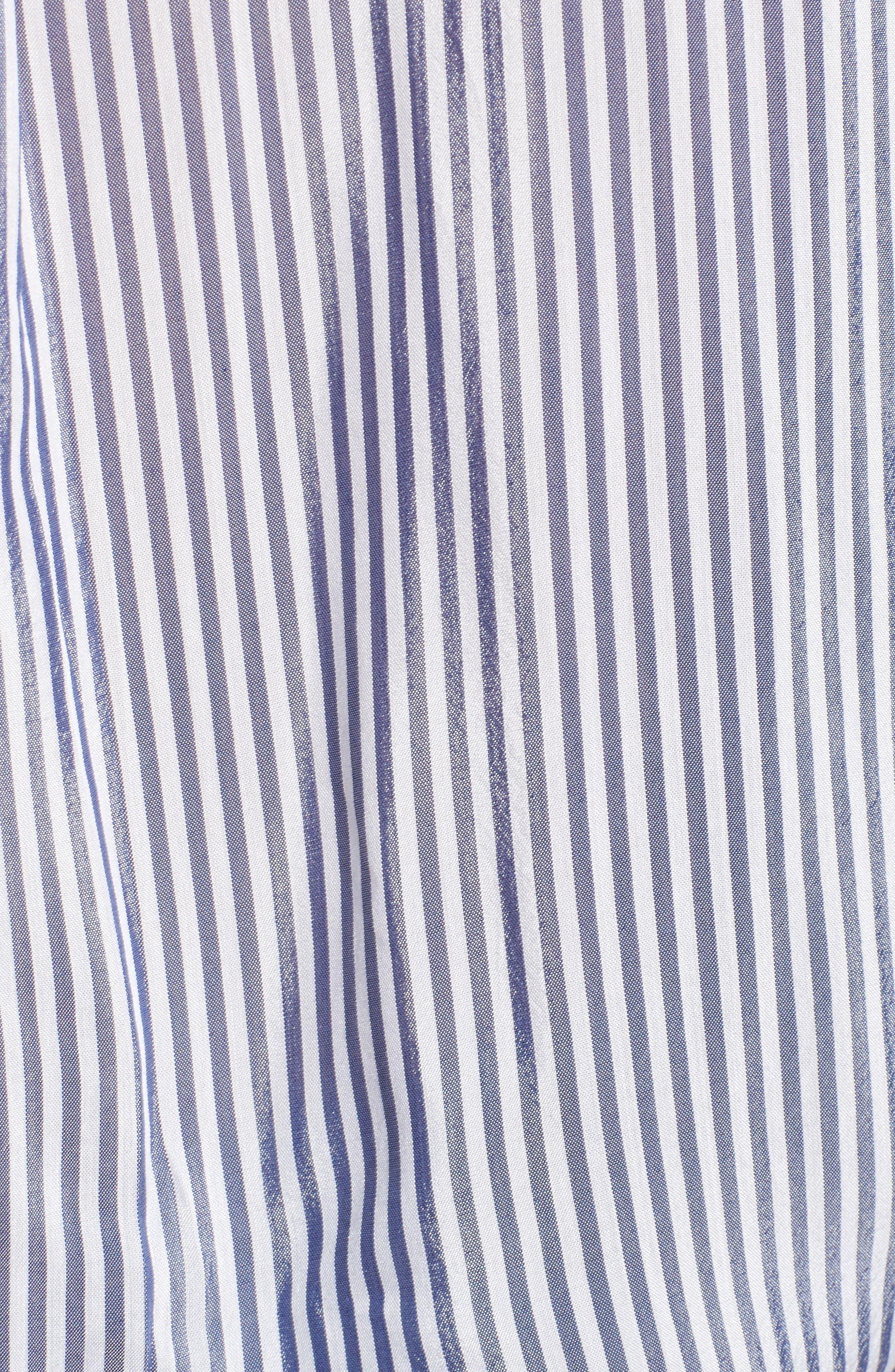 Zinc Stripe Shirt,                             Alternate thumbnail 5, color,                             Blue Stripe