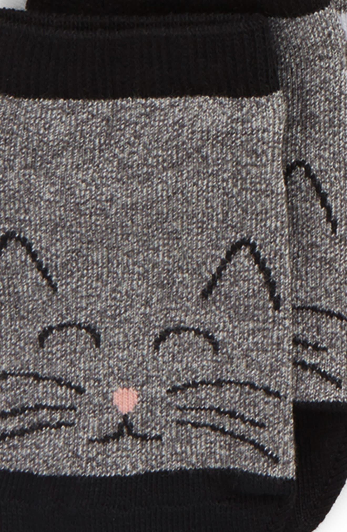 6-Pack Assorted Low Cut Socks,                             Alternate thumbnail 2, color,                             Black Multi