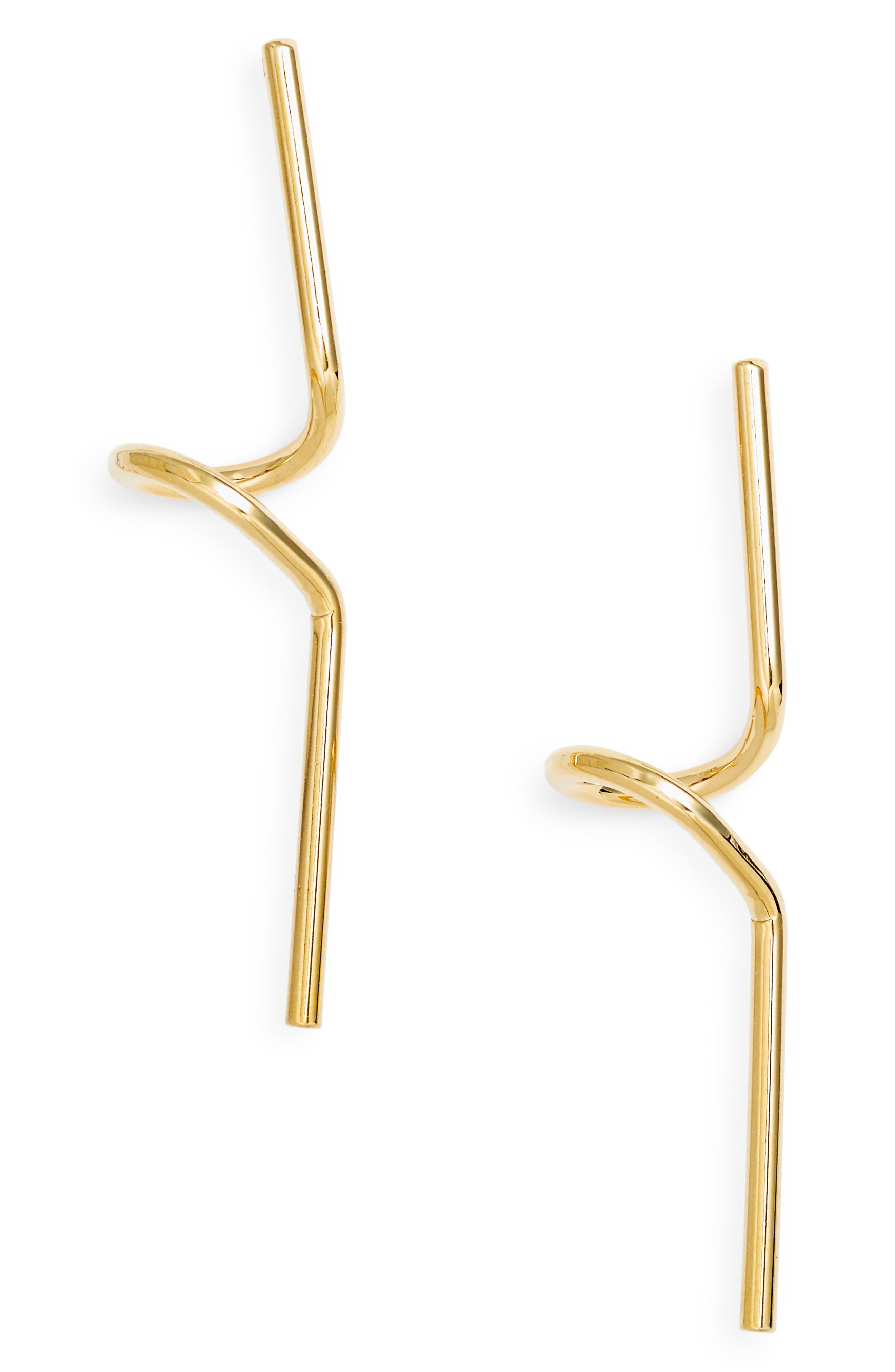 Diana Statement Earrings,                             Main thumbnail 1, color,                             Gold