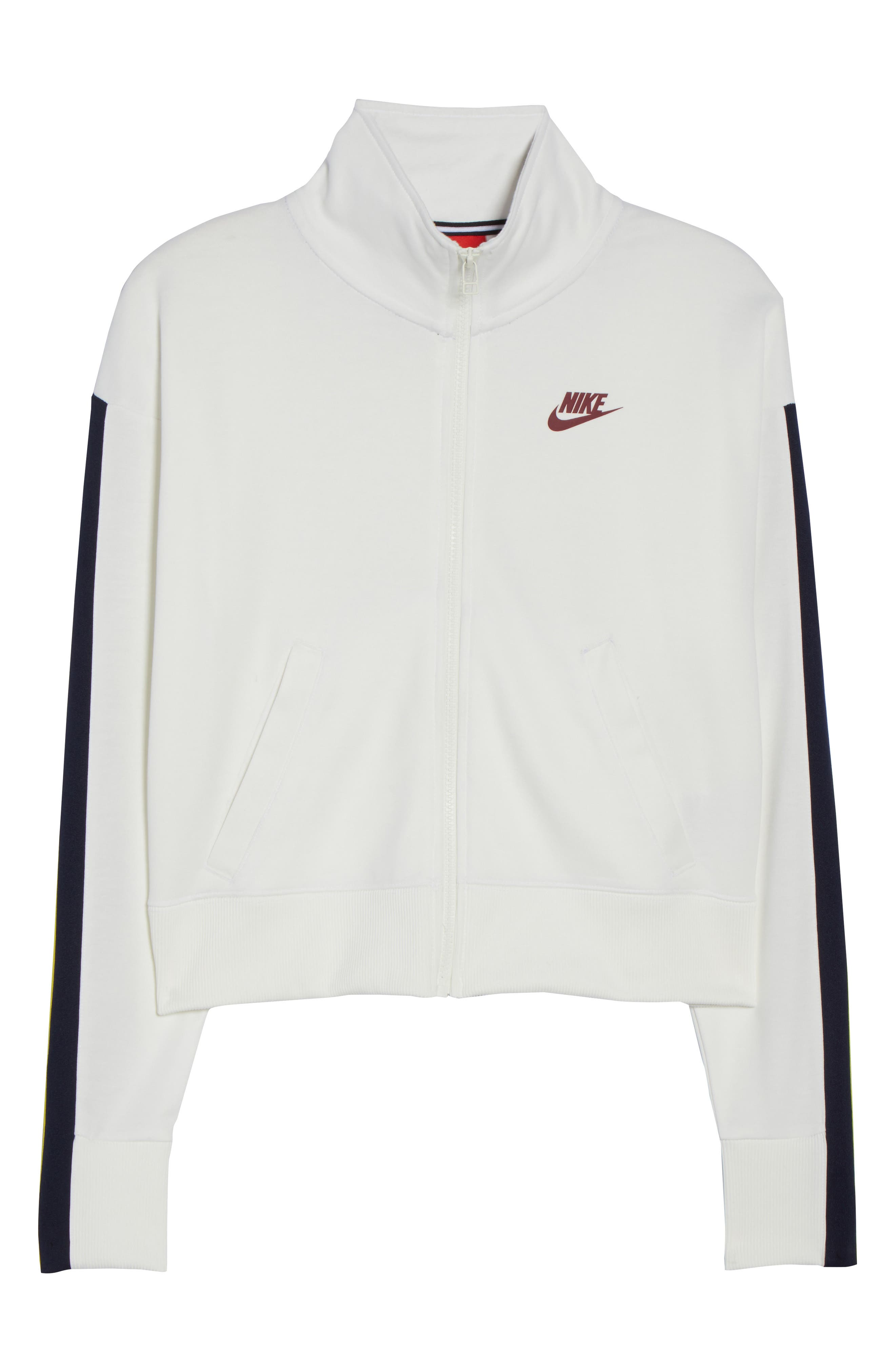 Sportswear Crop Jacket,                             Alternate thumbnail 7, color,                             Sail/ Team Red