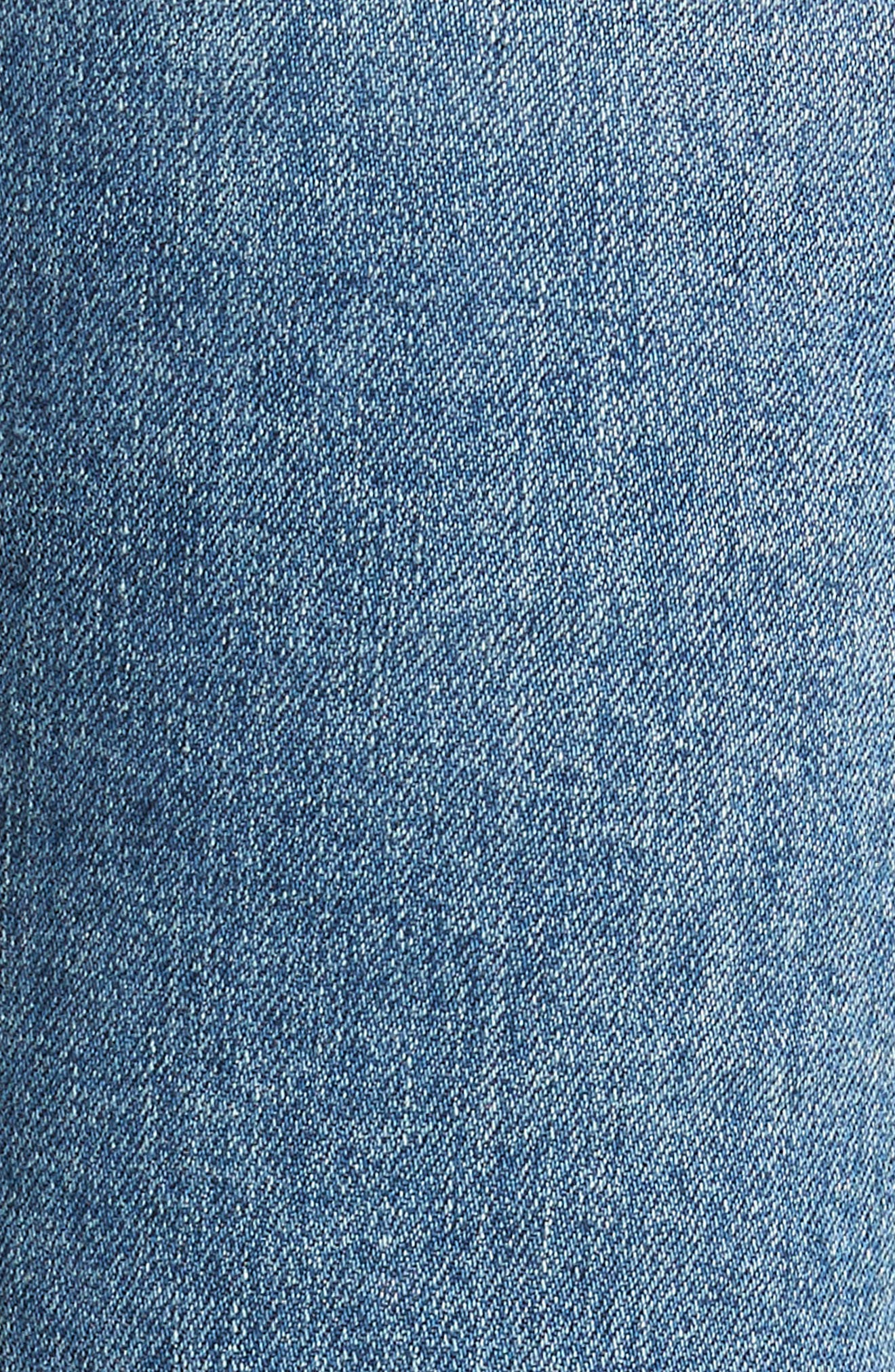 Racer Ripped Skinny Jeans,                             Alternate thumbnail 6, color,                             Distressed Encore