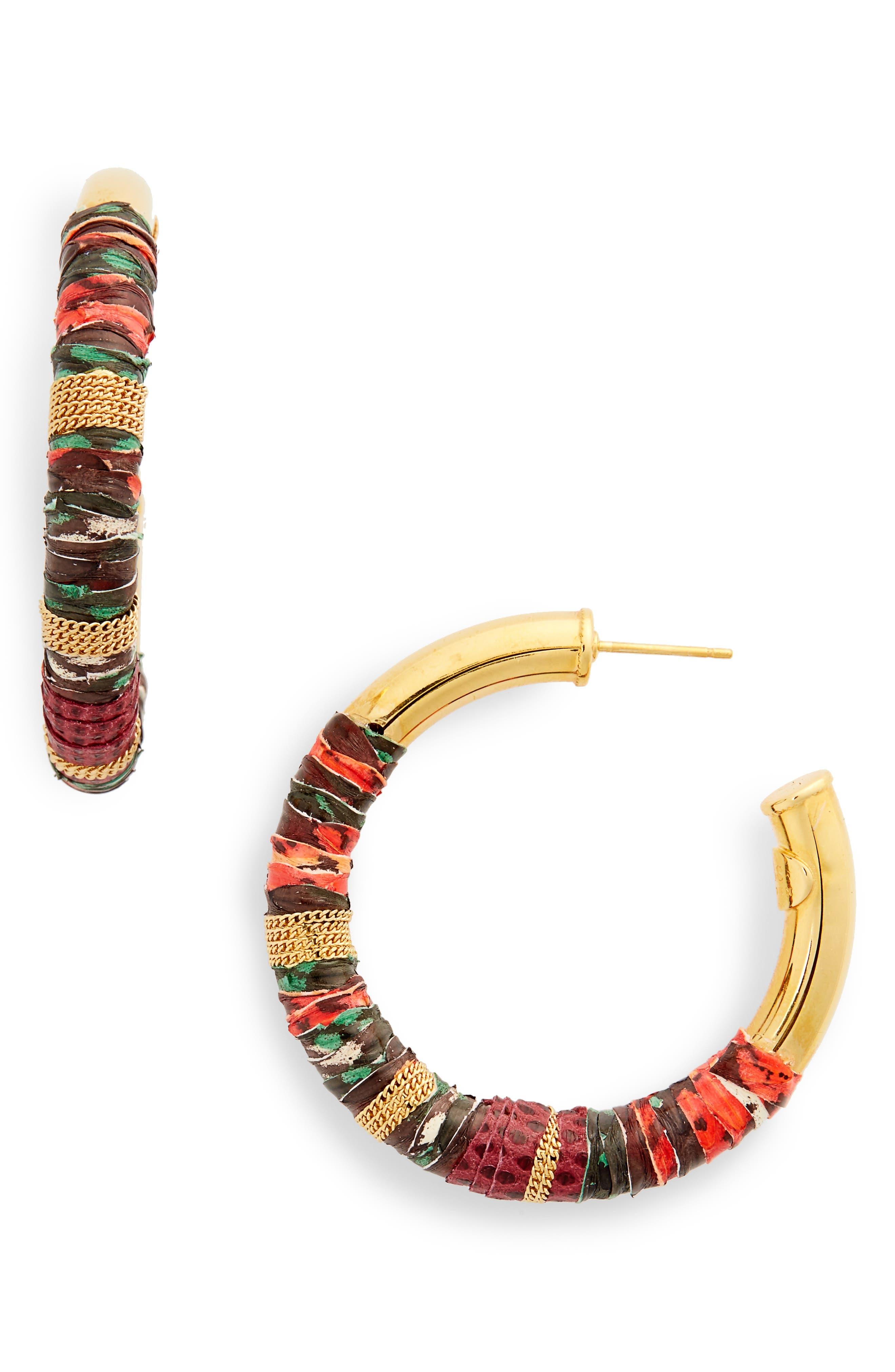 Alternate Image 1 Selected - Gas Bijoux Wrapped Hoop Earrings