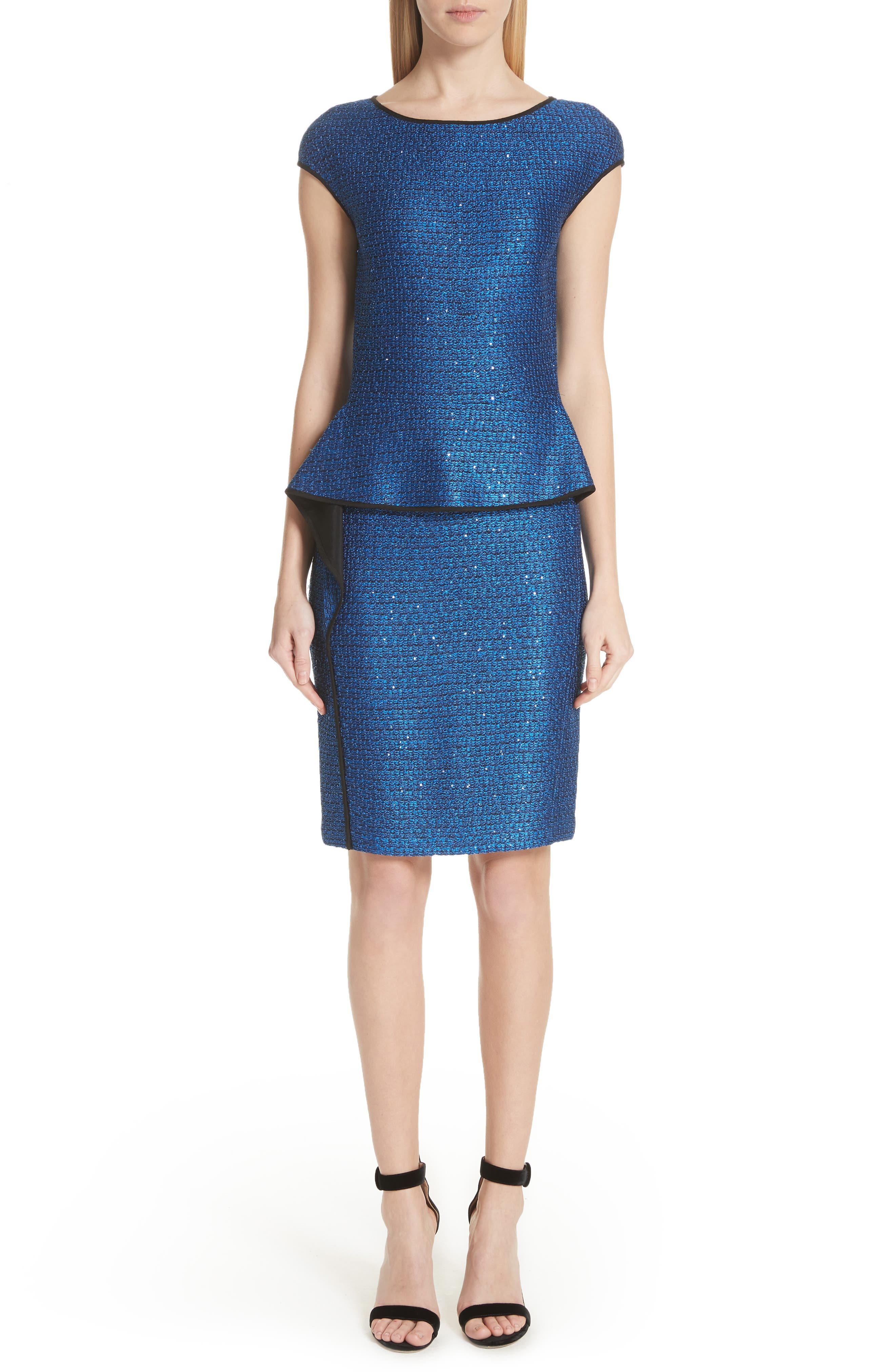 St. John Collection Luster Sequin Knit Dress