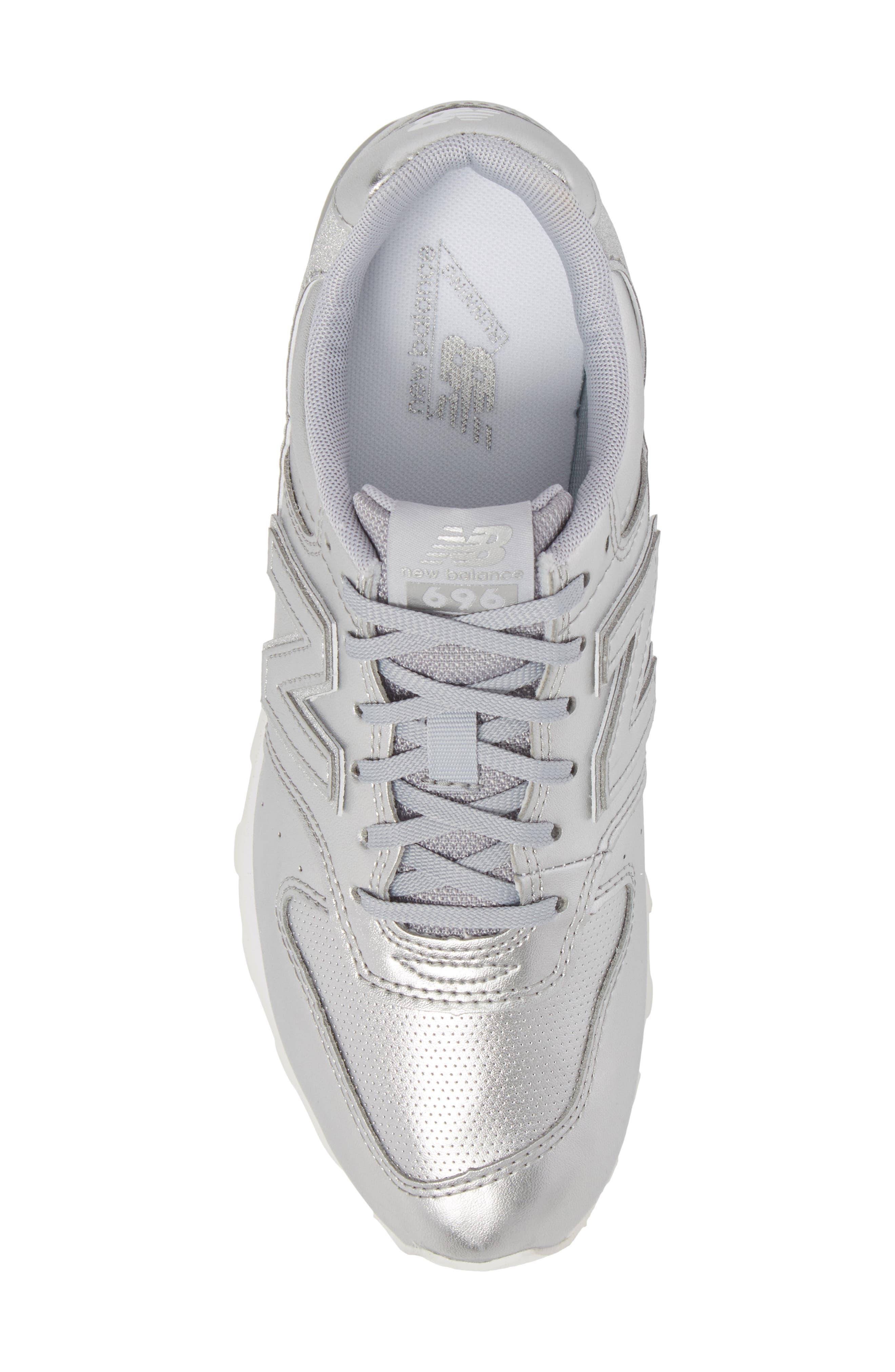 696 Sneaker,                             Alternate thumbnail 5, color,                             Metallic Silver
