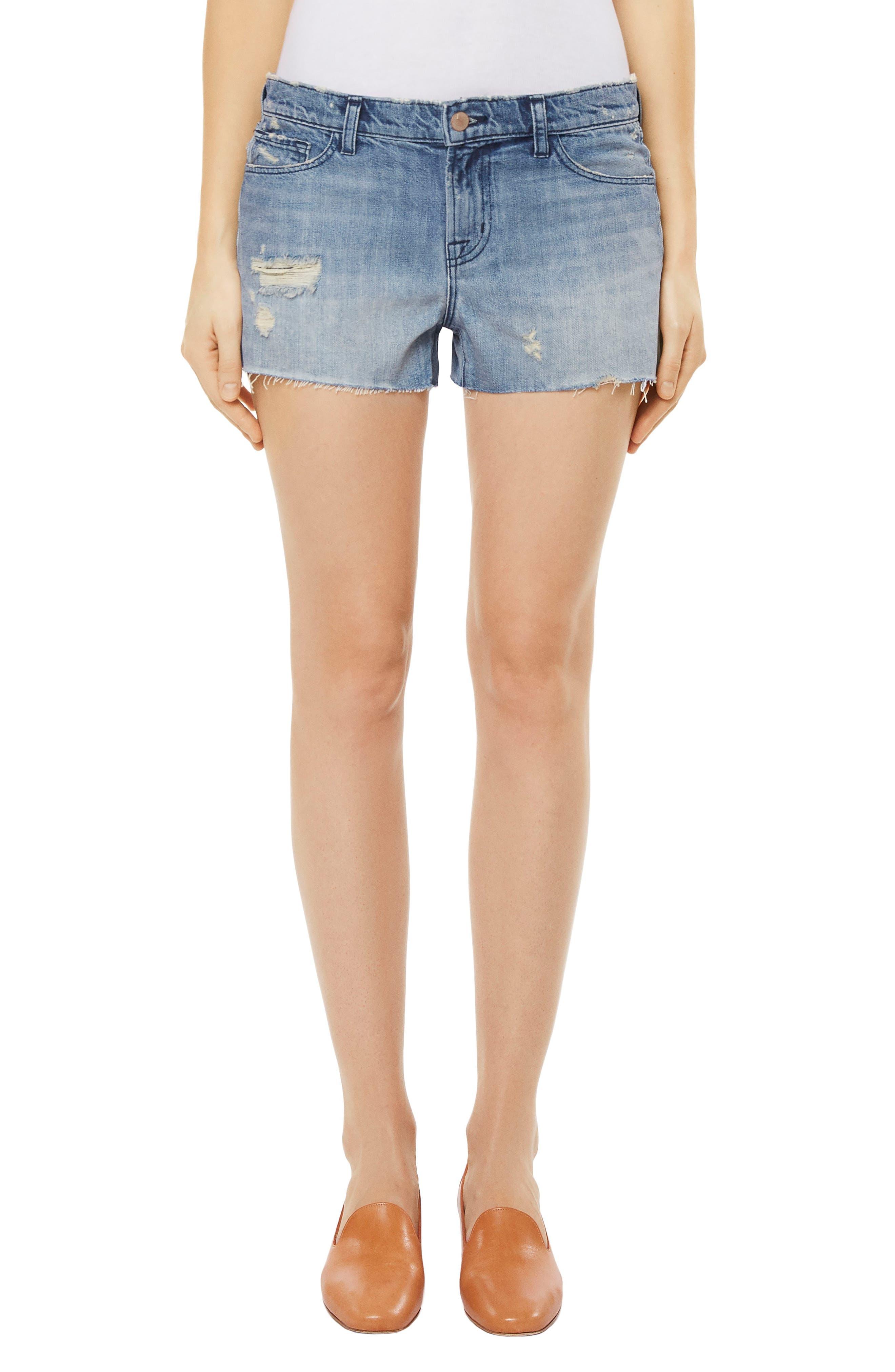 Cutoff Denim Shorts,                         Main,                         color, Bandit